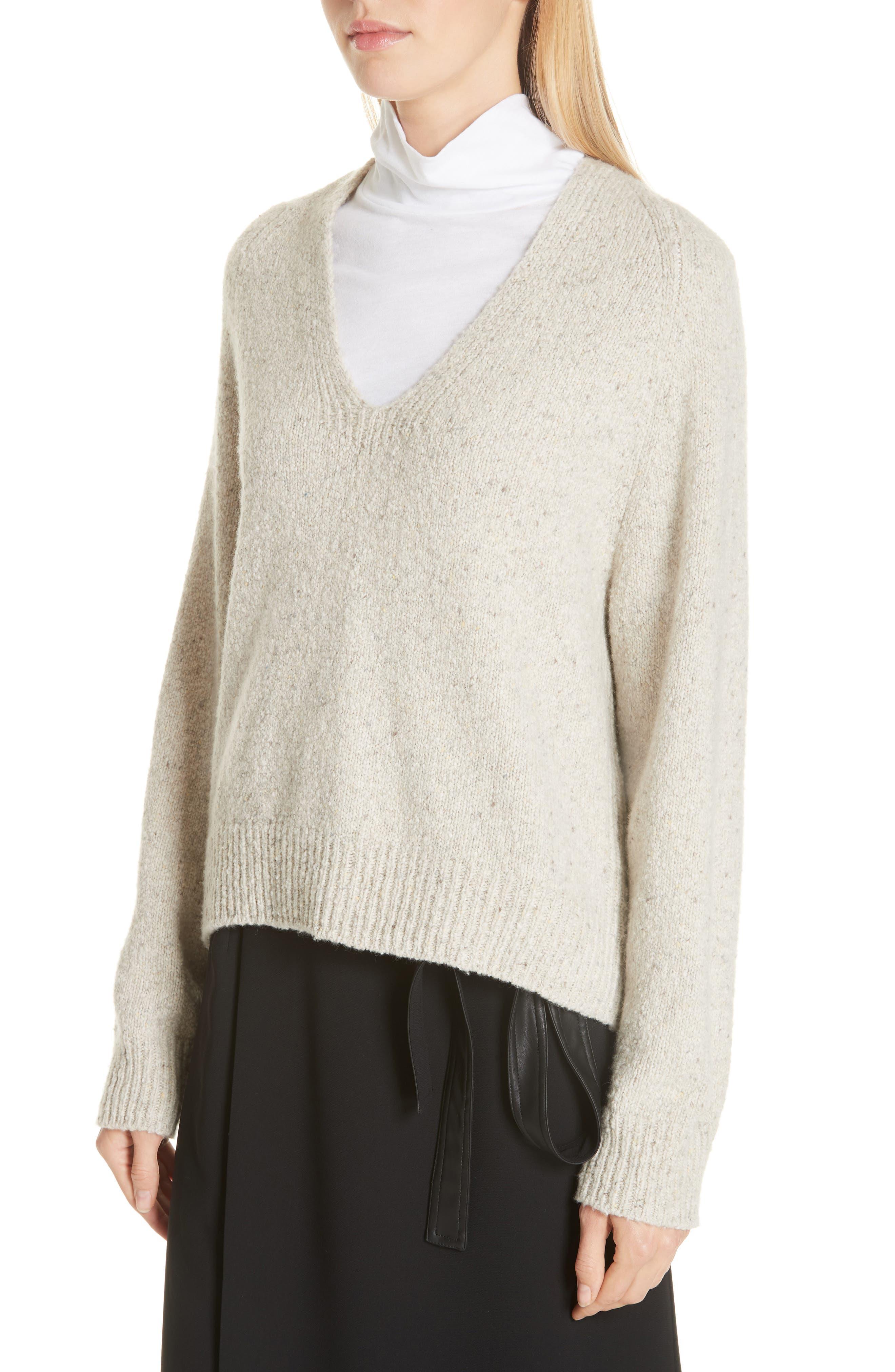 V-Neck Cashmere Sweater,                             Alternate thumbnail 4, color,                             902
