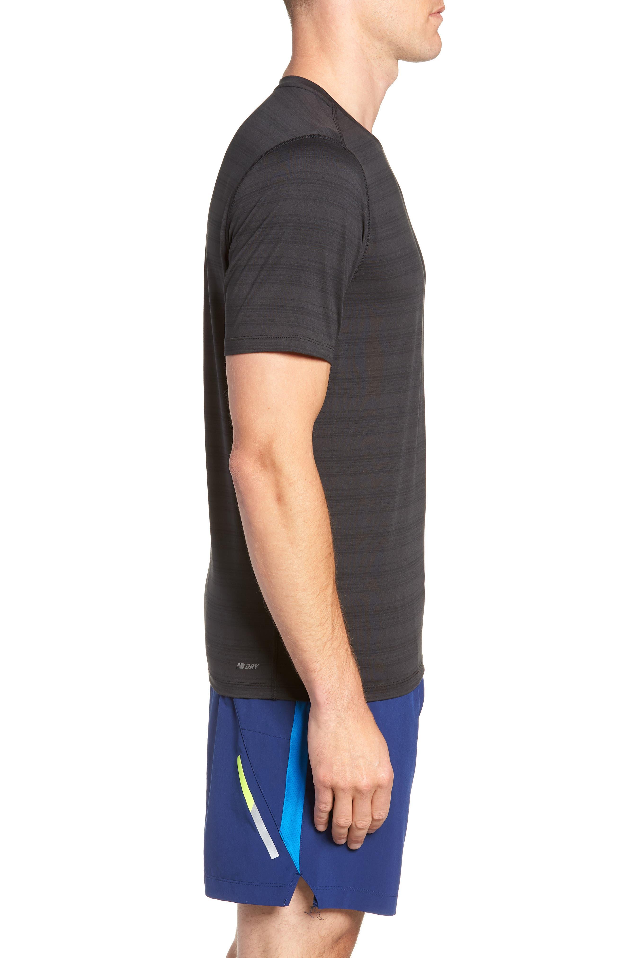 Anticipate Performance T-Shirt,                             Alternate thumbnail 3, color,                             BLACK