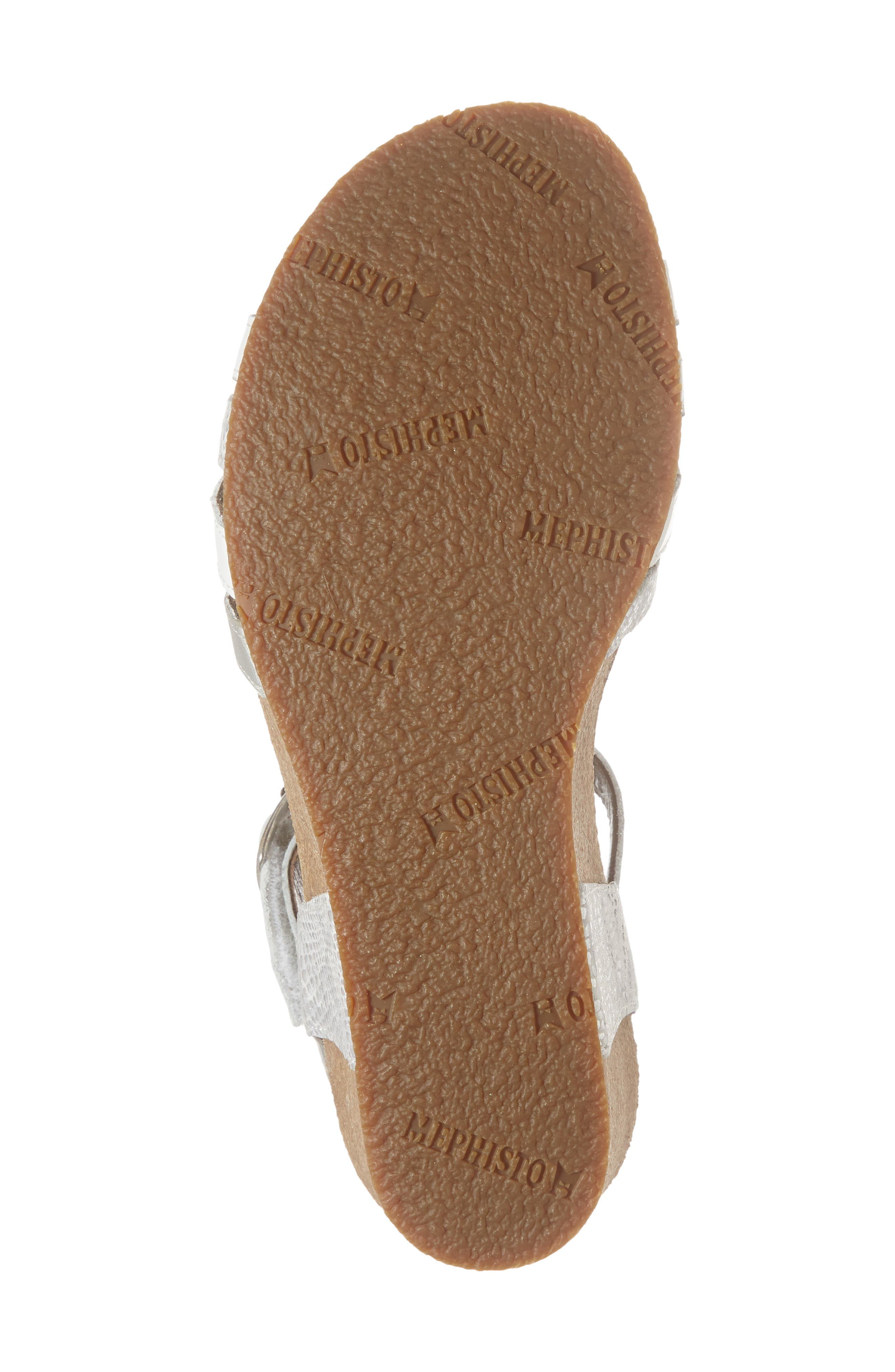 Mado Wedge Sandal,                             Alternate thumbnail 6, color,                             WHITE LEATHER