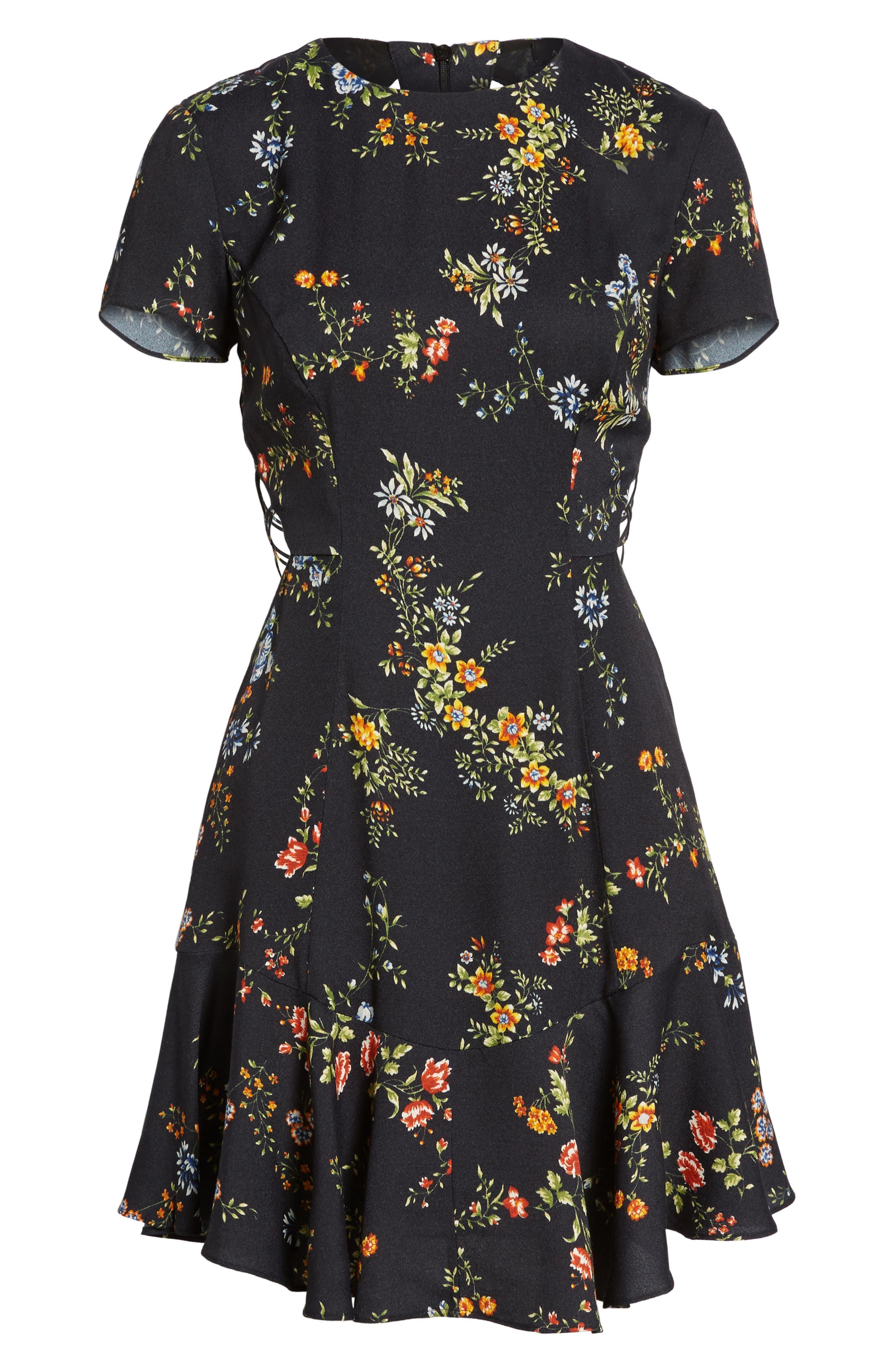 Chelsea Lattice Back Fit & Flare Dress,                             Alternate thumbnail 22, color,