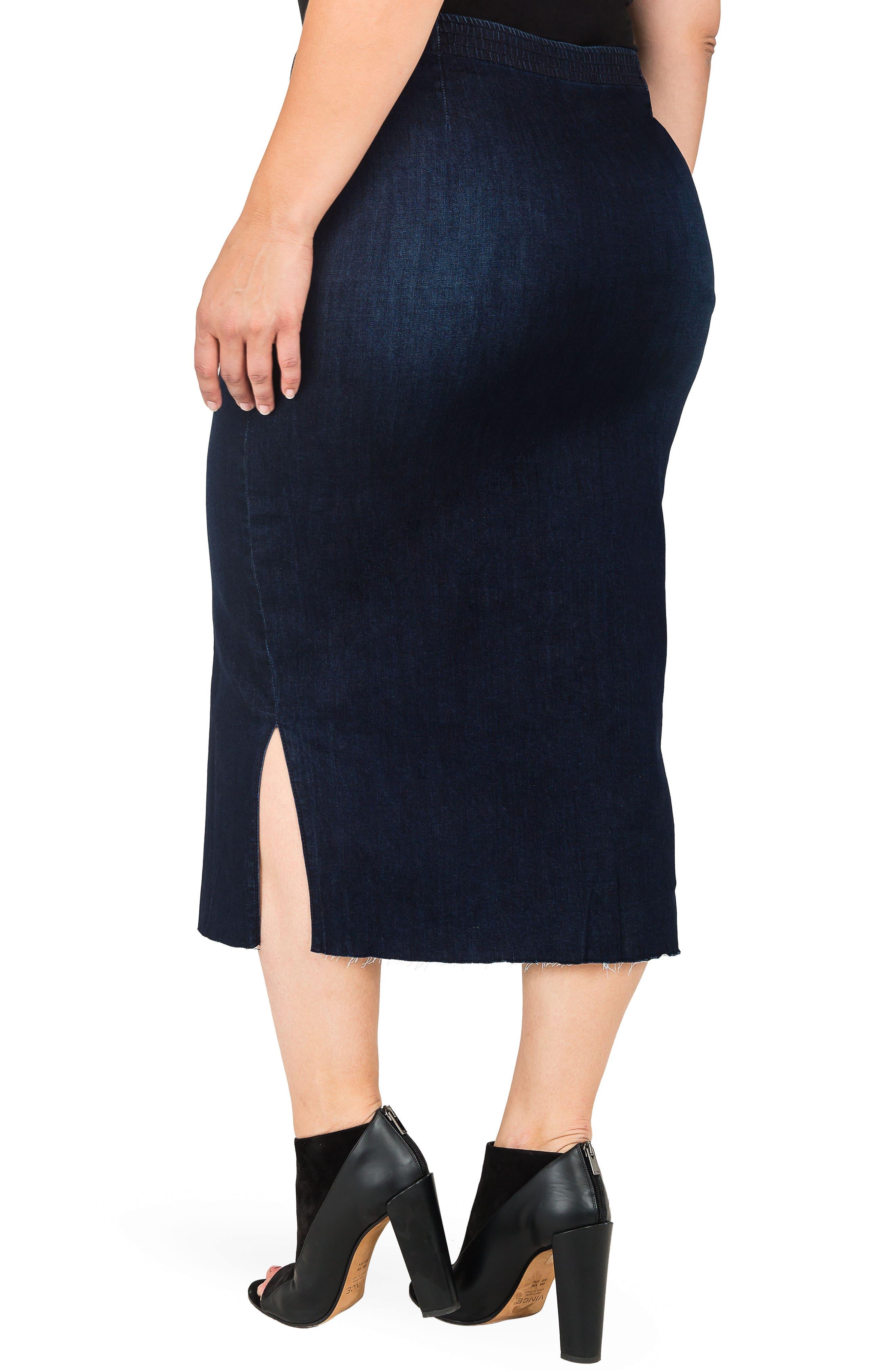 Elain Denim Pencil Skirt,                             Alternate thumbnail 2, color,                             BLUE
