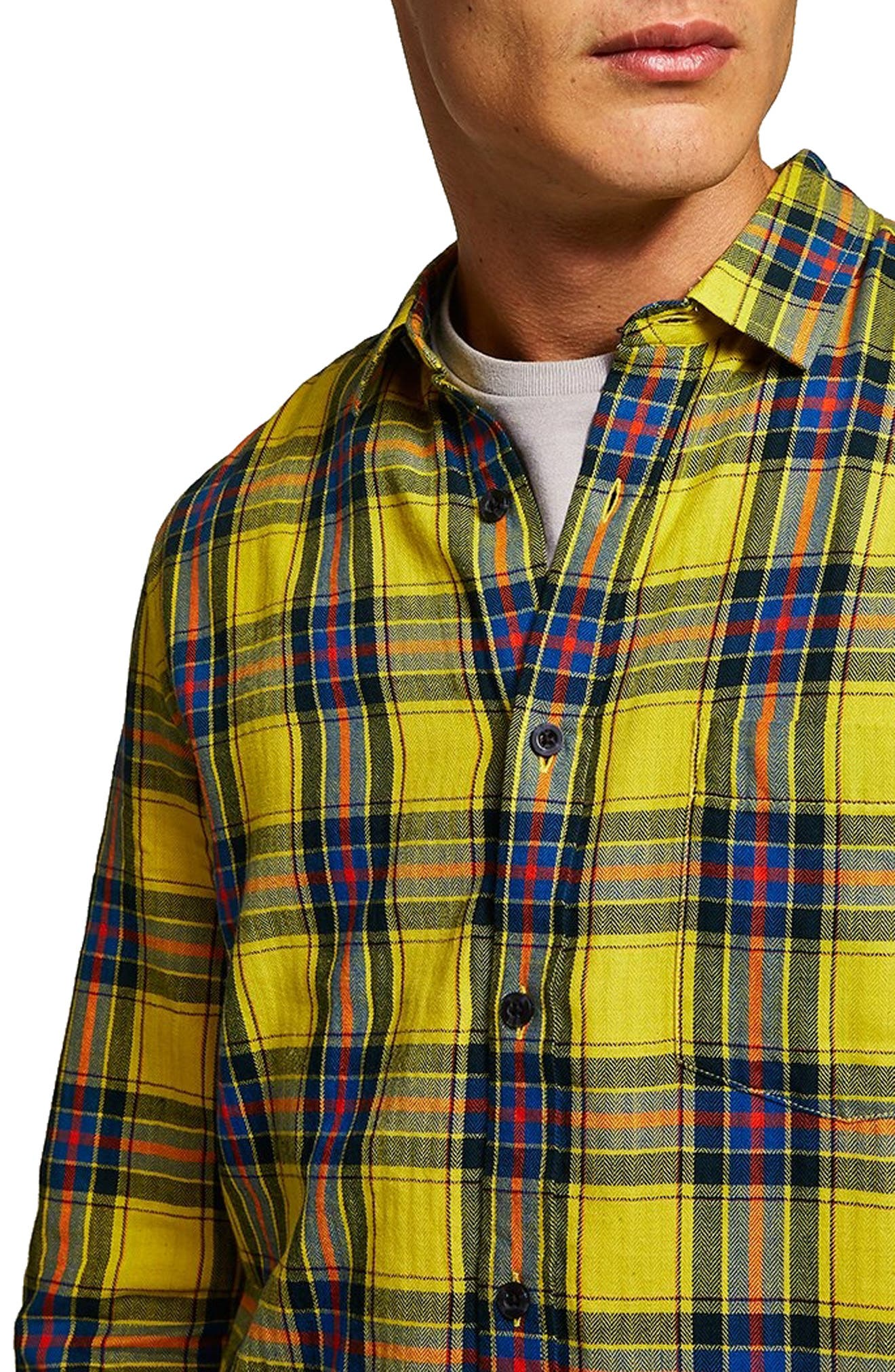 Check Shirt,                             Alternate thumbnail 2, color,                             YELLOW