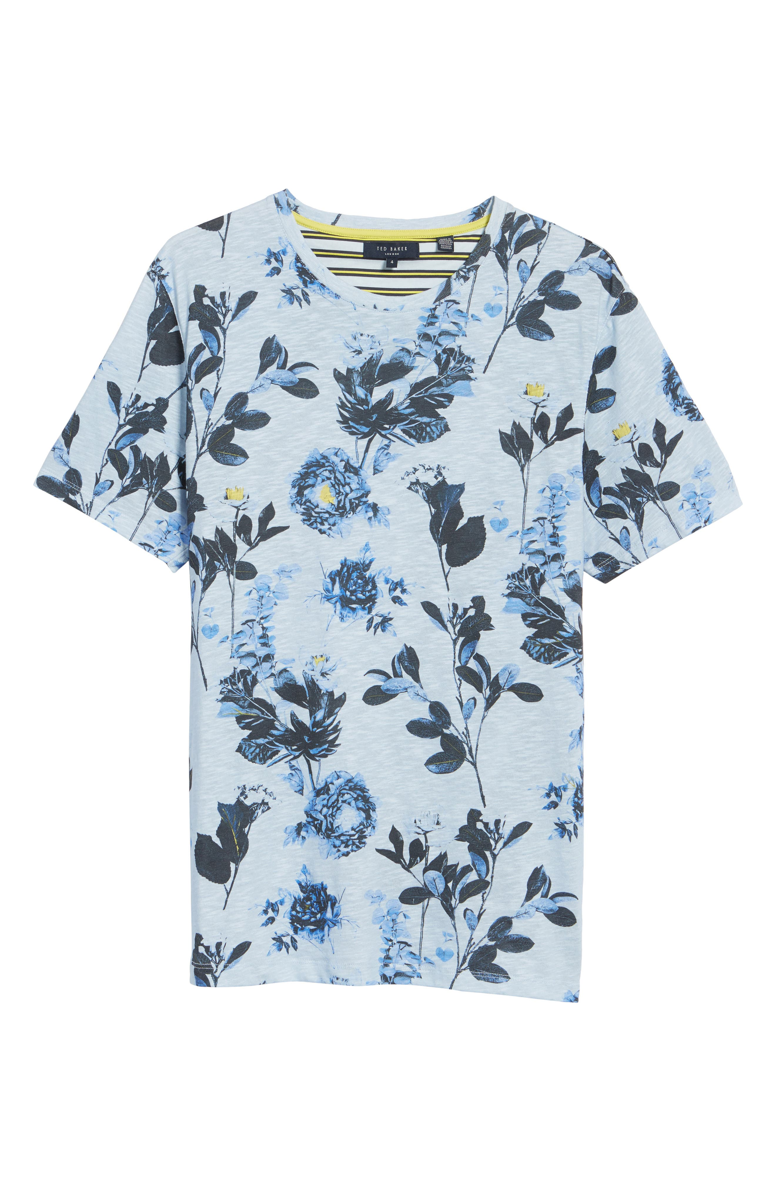 Doberma Trim Fit Floral Print T-Shirt,                             Alternate thumbnail 12, color,