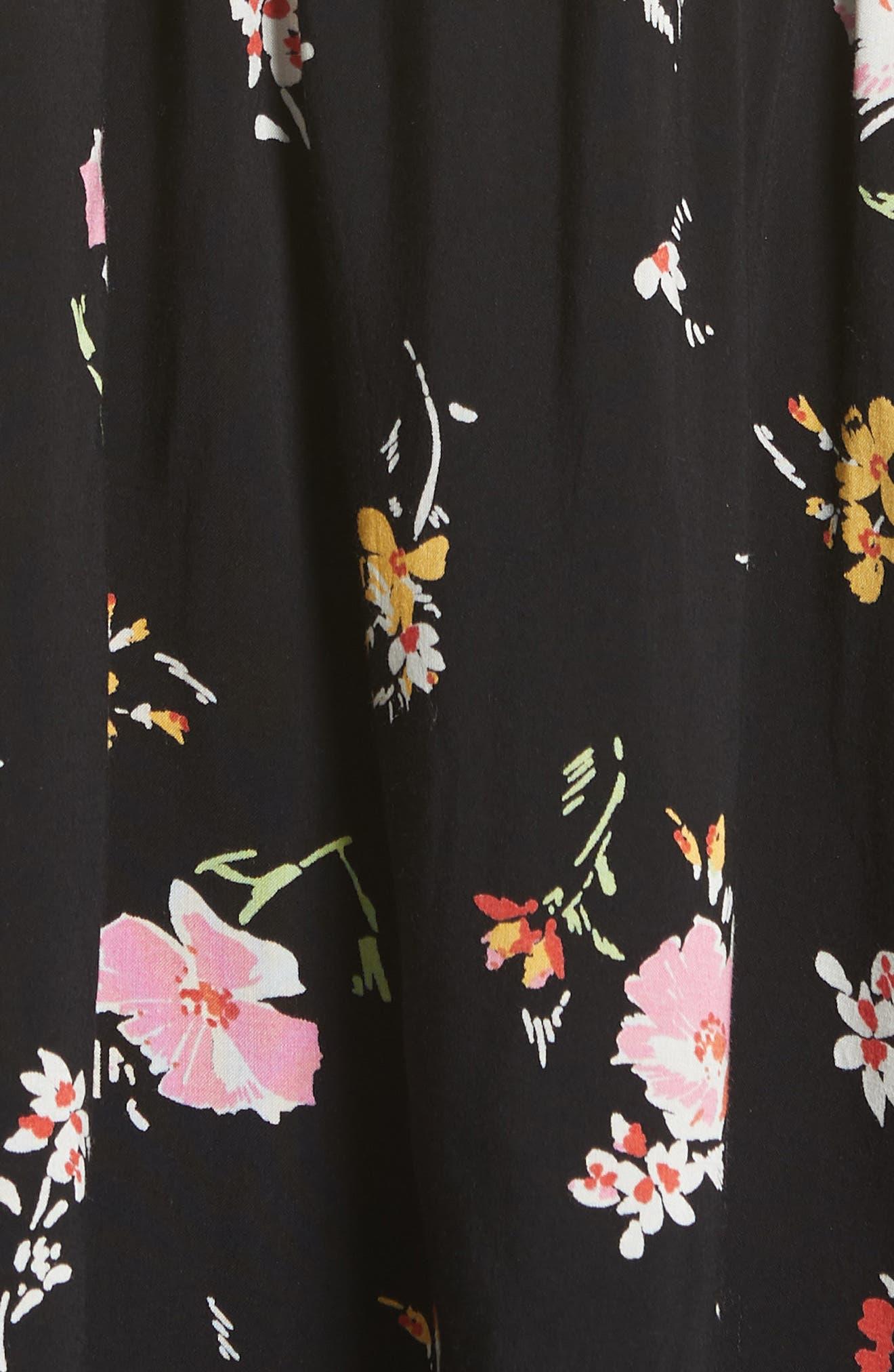 Greatest Day Smocked Minidress,                             Alternate thumbnail 6, color,                             001