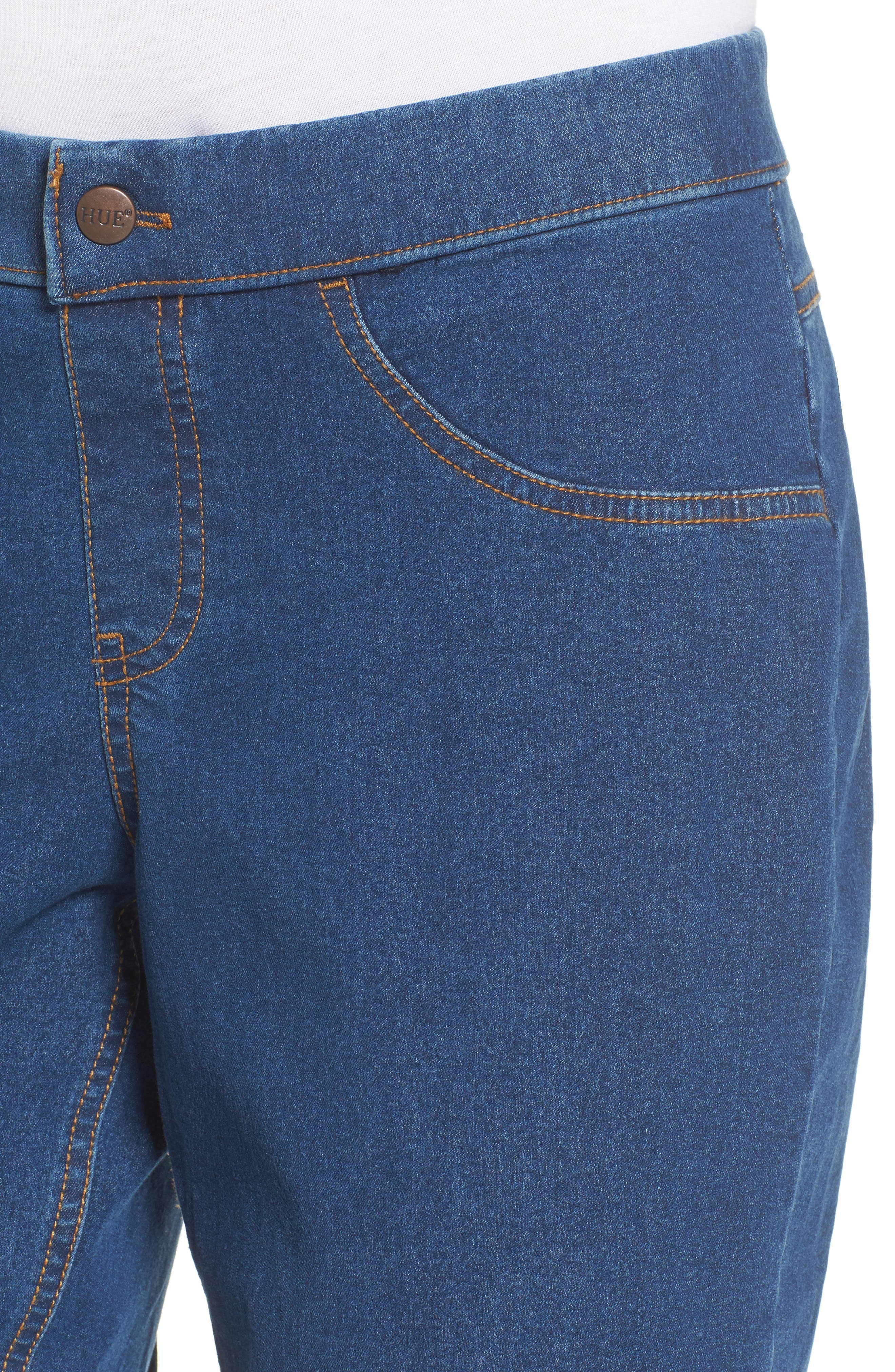 Crop Denim Pants,                             Alternate thumbnail 4, color,