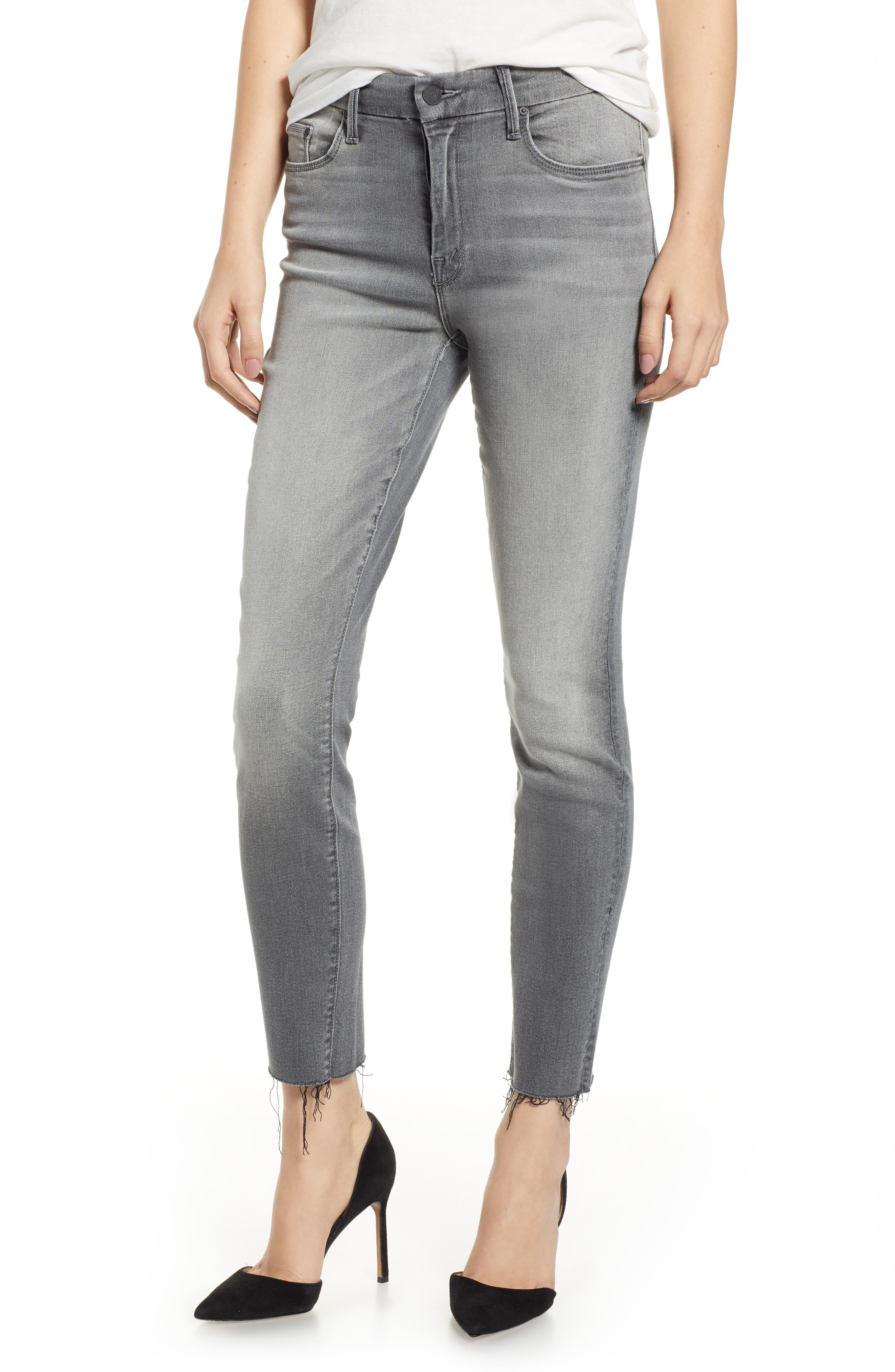 The Looker Frayed Ankle Jeans, Main, color, SUPER MOON
