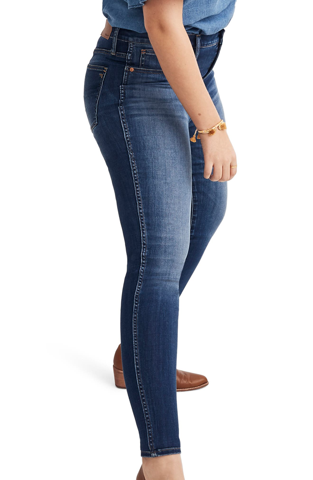 10-Inch High Rise Skinny Jeans,                             Alternate thumbnail 9, color,                             DANNY