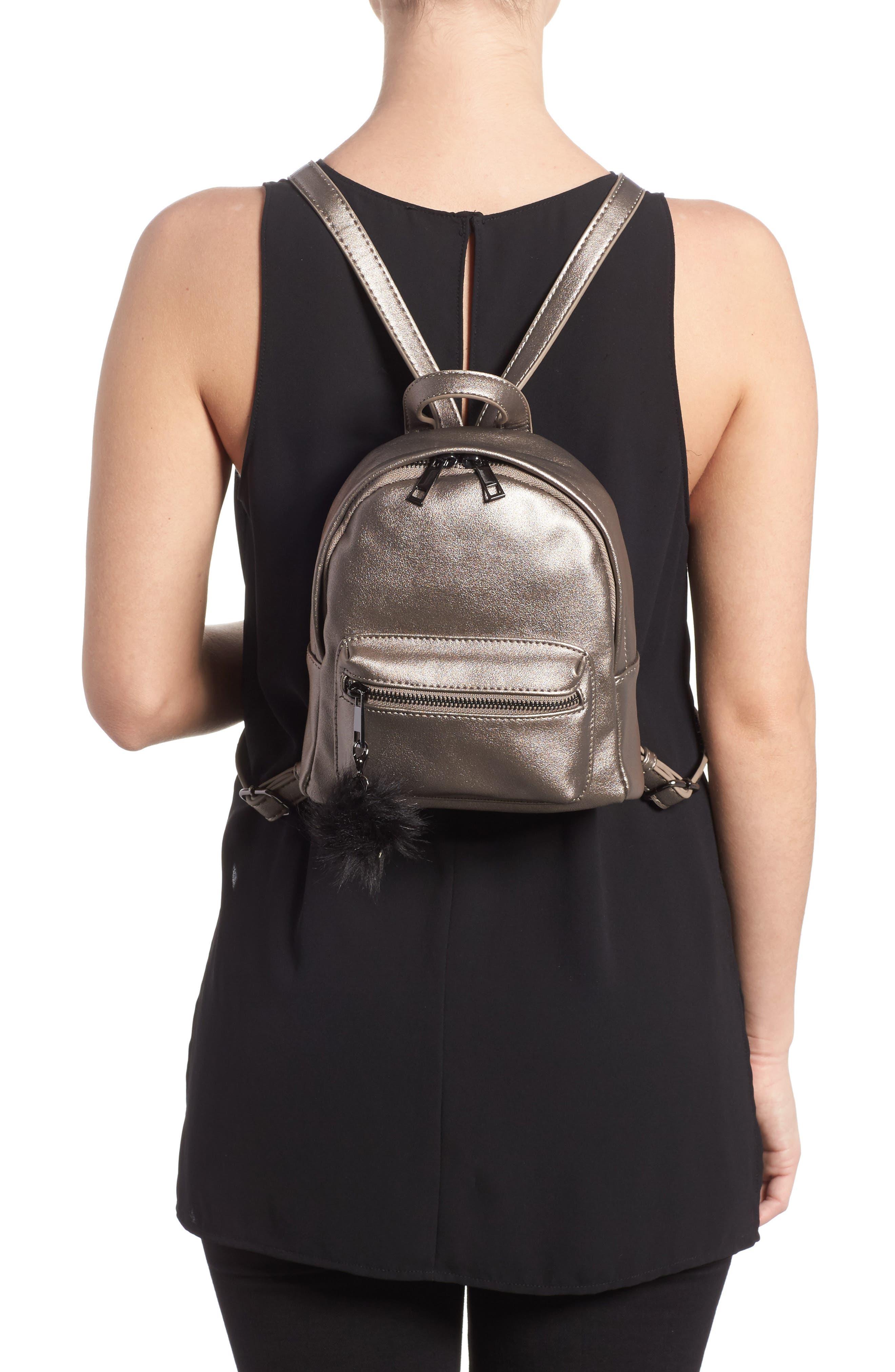 Faux Leather Mini Backpack,                             Alternate thumbnail 10, color,