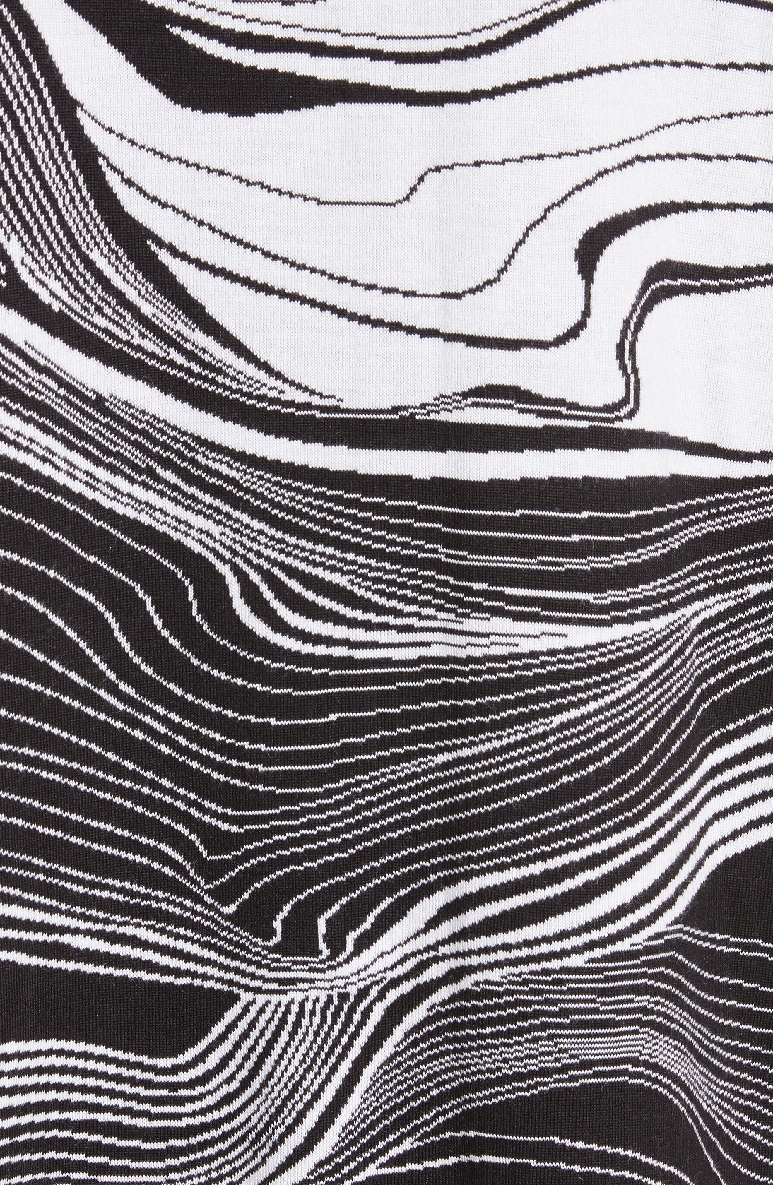 Brushstroke Jacquard Cardigan,                             Alternate thumbnail 5, color,                             001