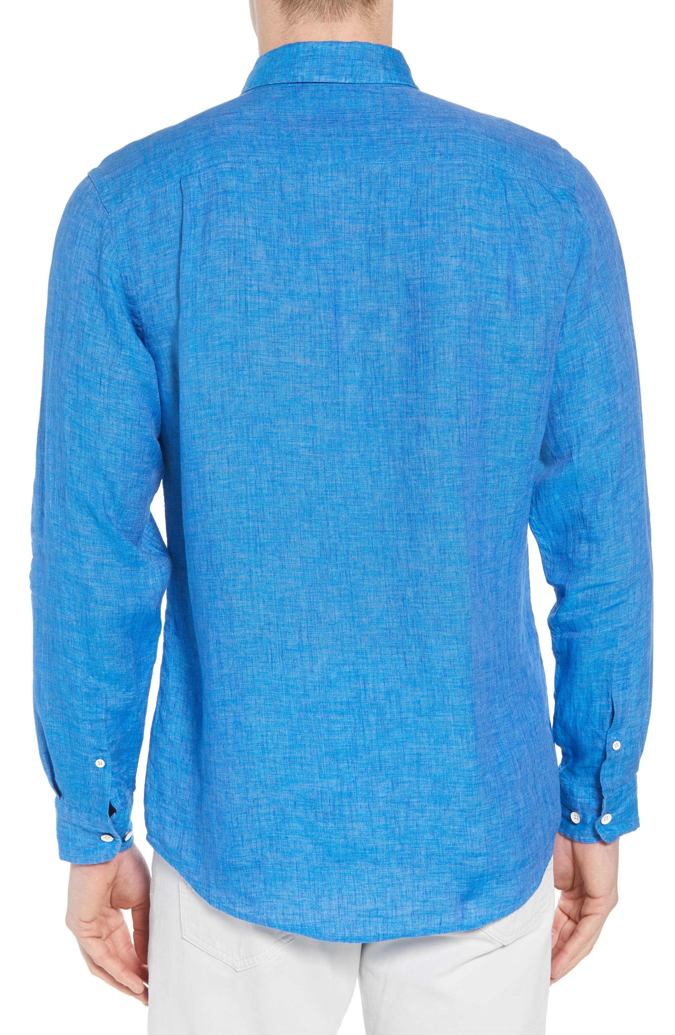 RODD & GUNN,                             Harris Bay Regular Fit Linen Sport Shirt,                             Alternate thumbnail 2, color,                             438