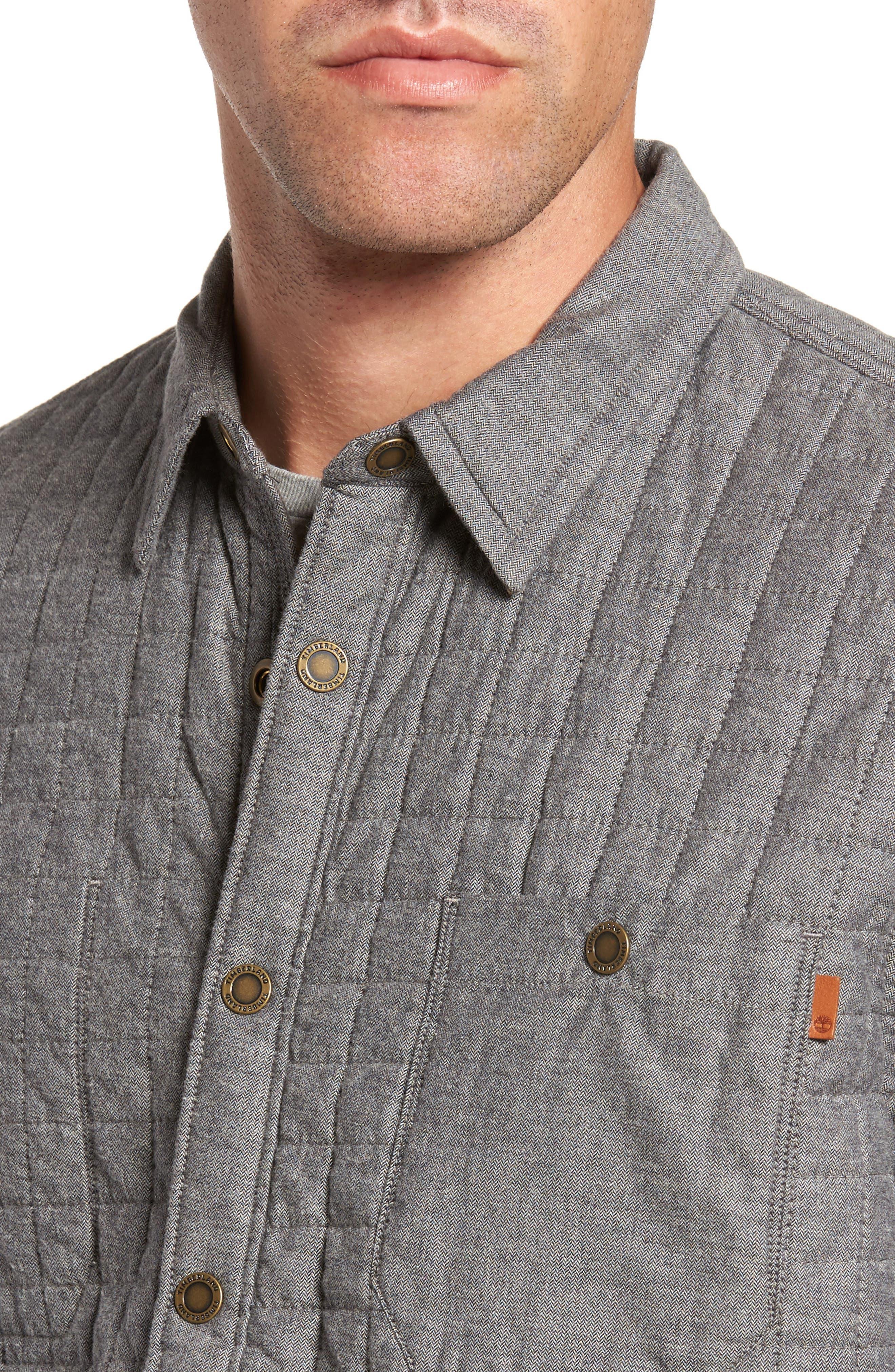 Gunstock River Lightweight Quilted Shirt Jacket,                             Alternate thumbnail 4, color,                             001