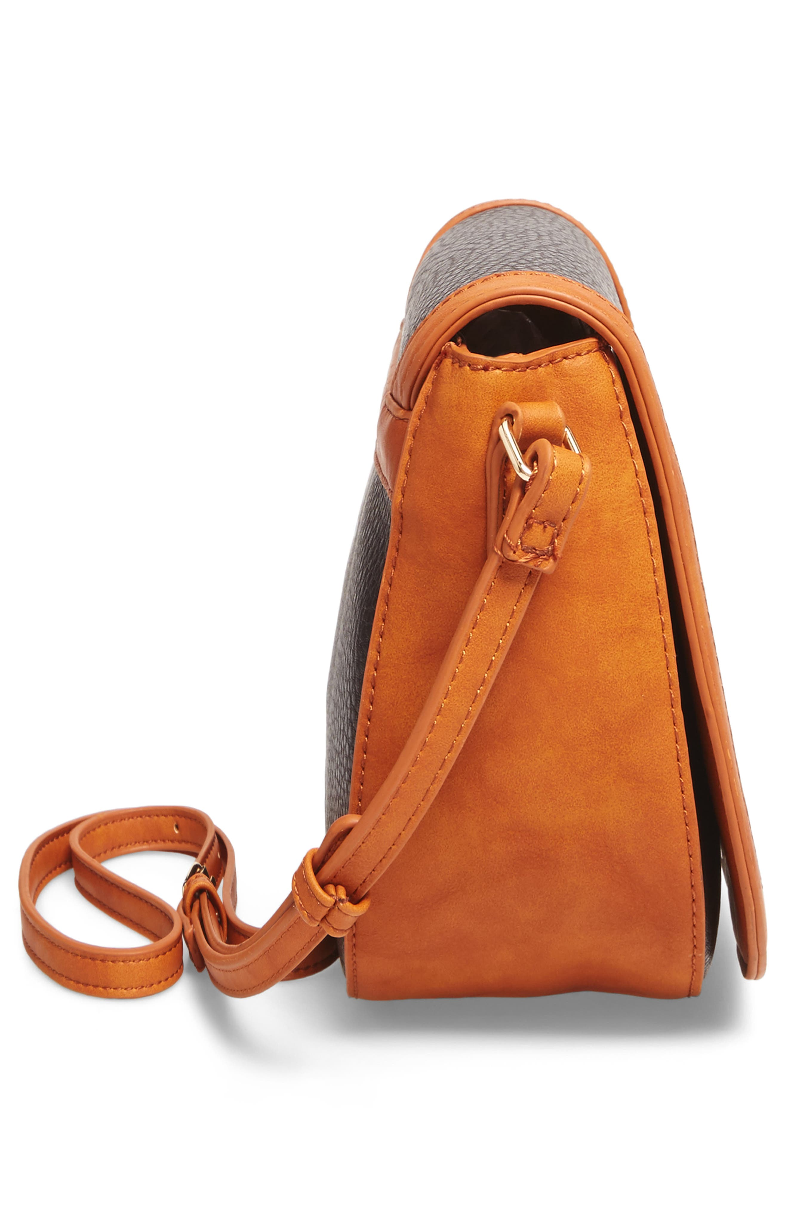 Finnigan Faux Leather Crossbody Bag,                             Alternate thumbnail 5, color,                             001