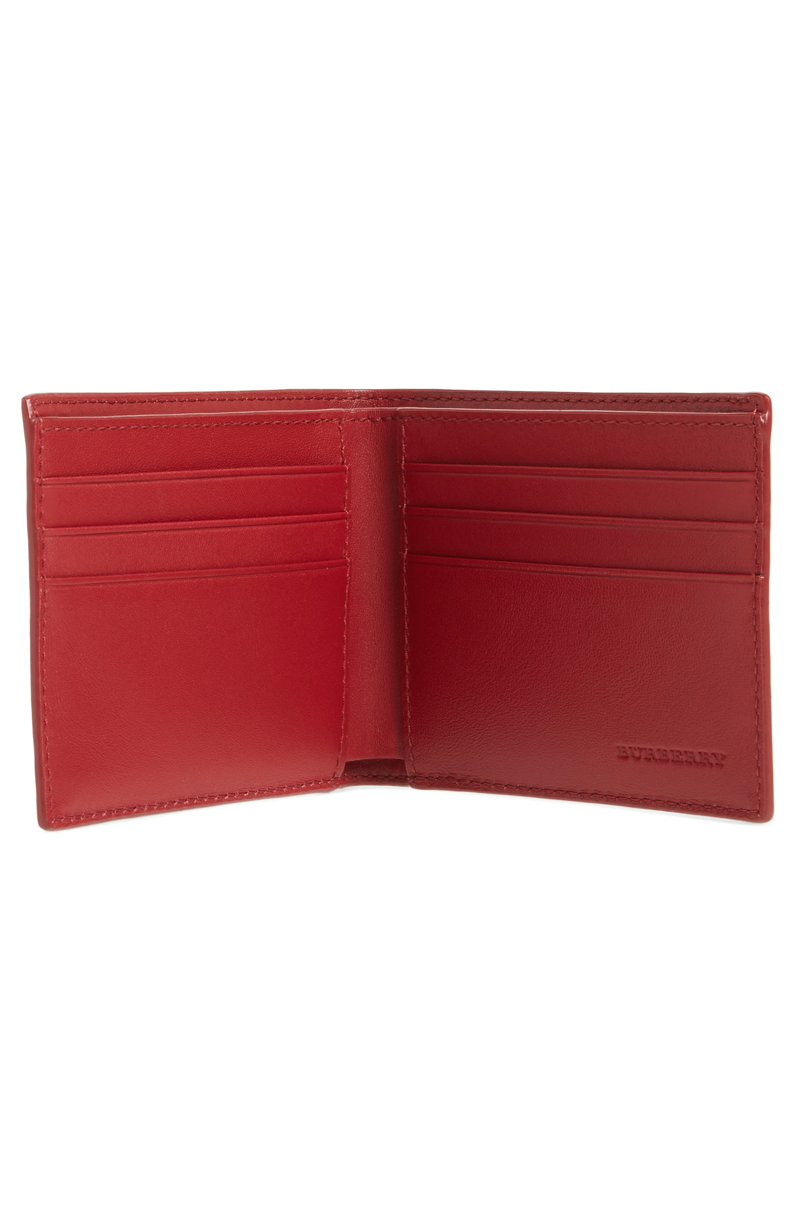 Check Faux Leather Wallet,                             Alternate thumbnail 2, color,                             207