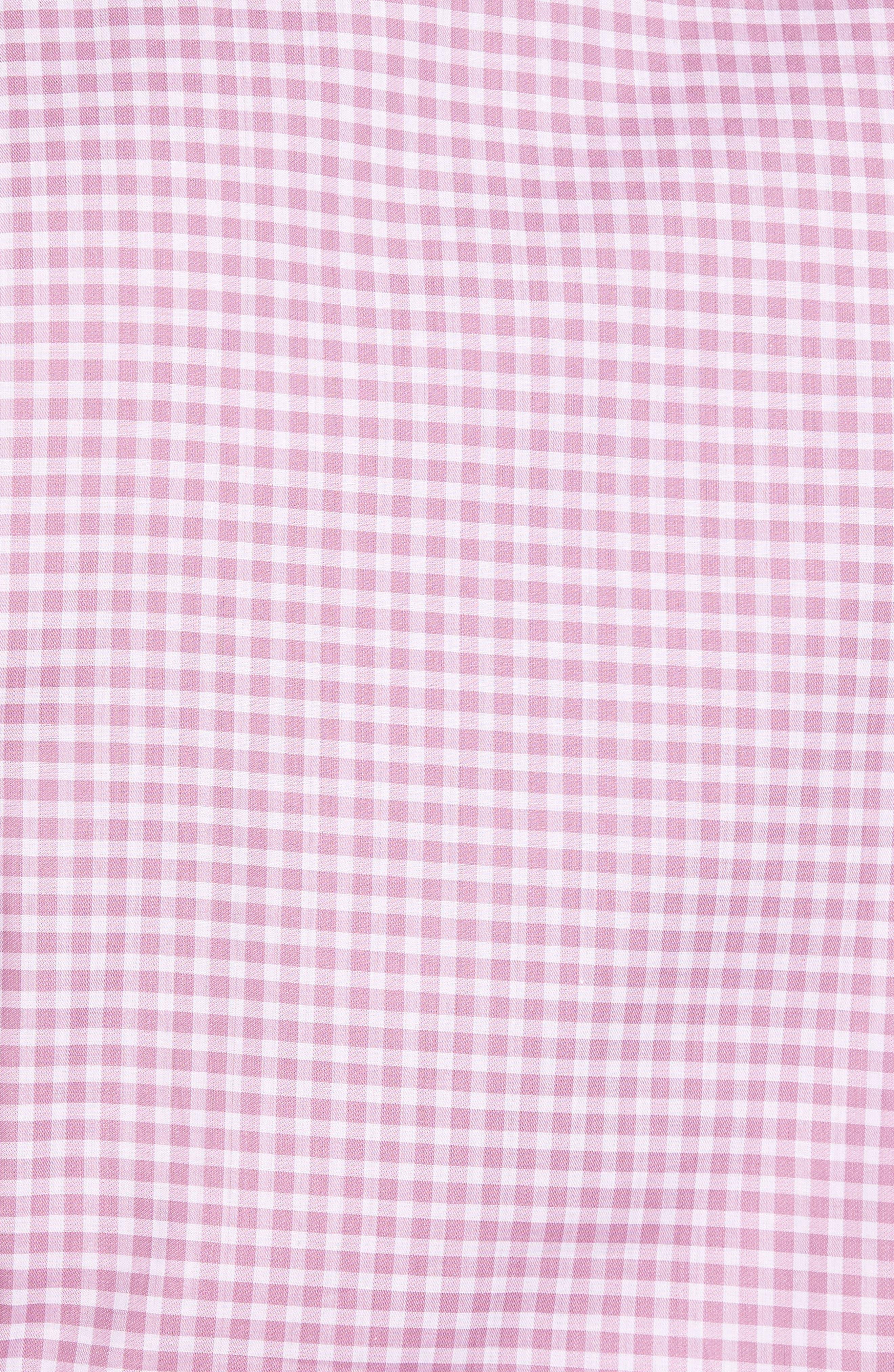 Slim Fit Check Twill Sport Shirt,                             Alternate thumbnail 5, color,                             650