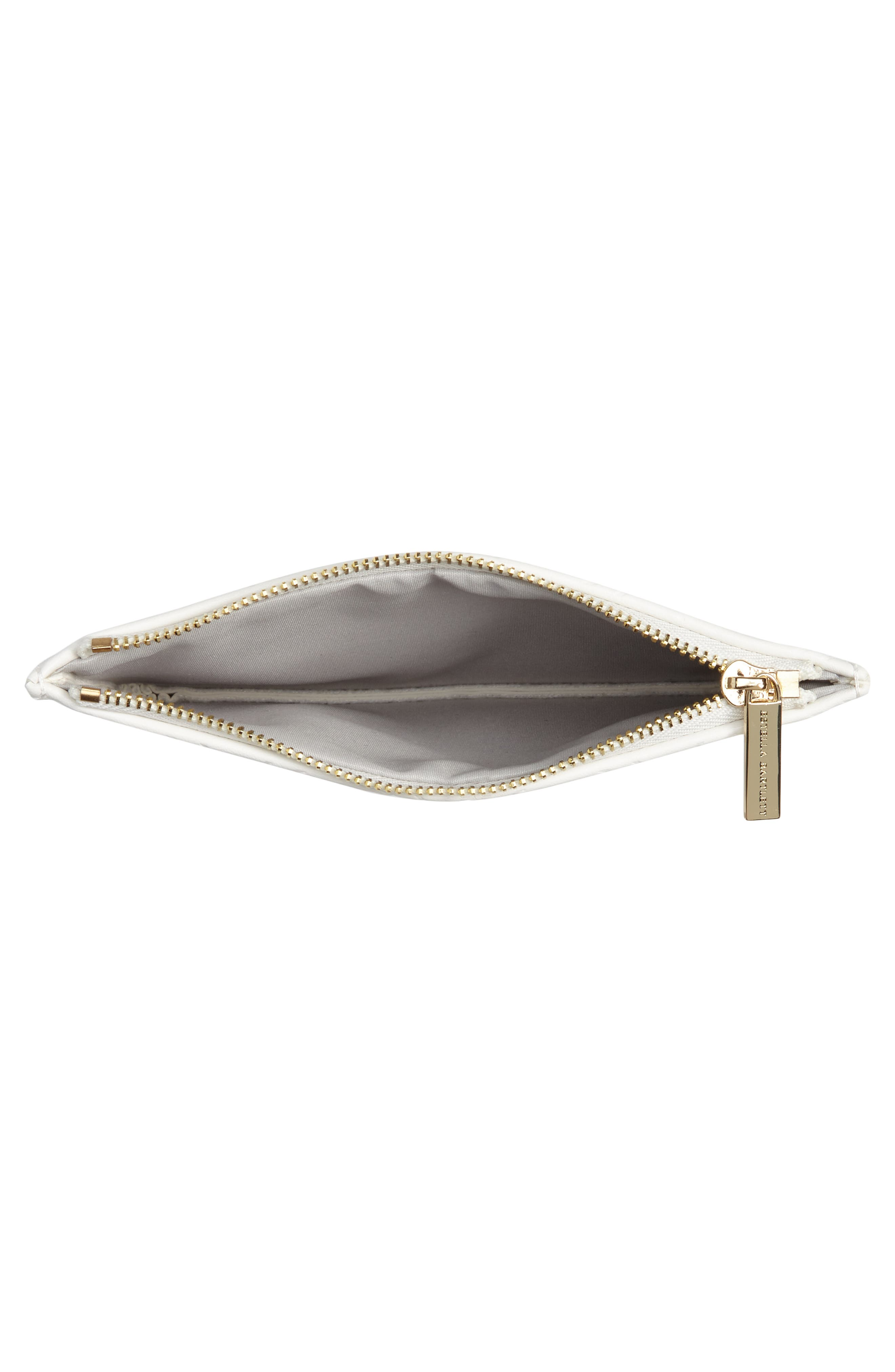Small Embossed Faux Leather Pouch,                             Alternate thumbnail 4, color,                             900