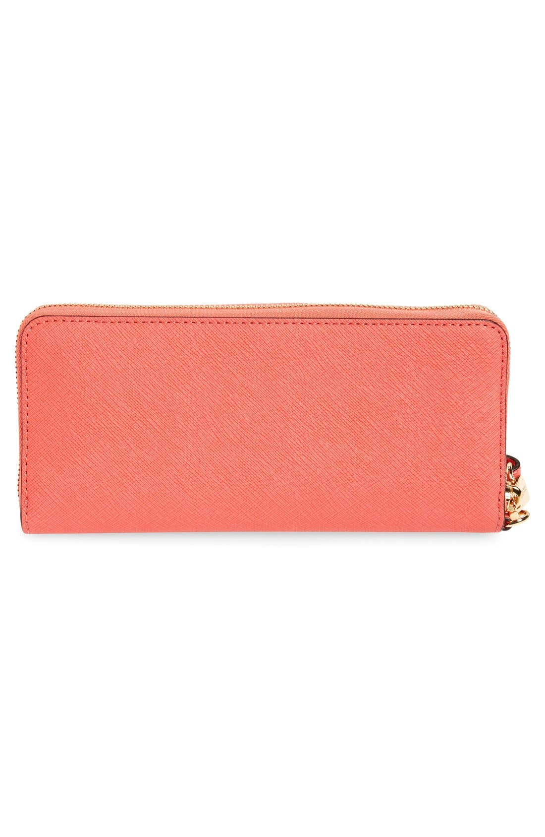 'Jet Set' Leather Travel Wallet,                             Alternate thumbnail 41, color,