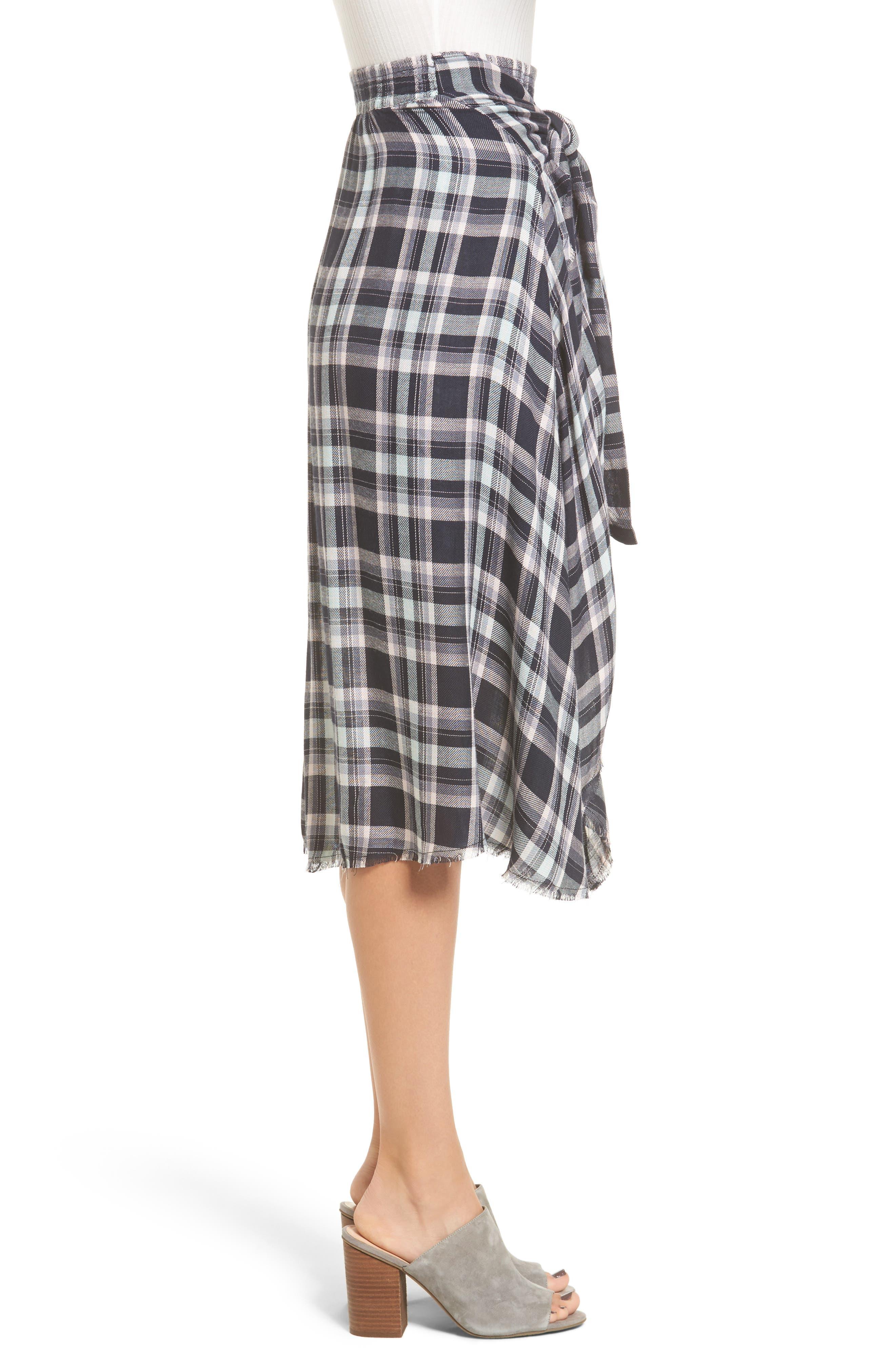 When We Wake Plaid Skirt,                             Alternate thumbnail 3, color,                             400