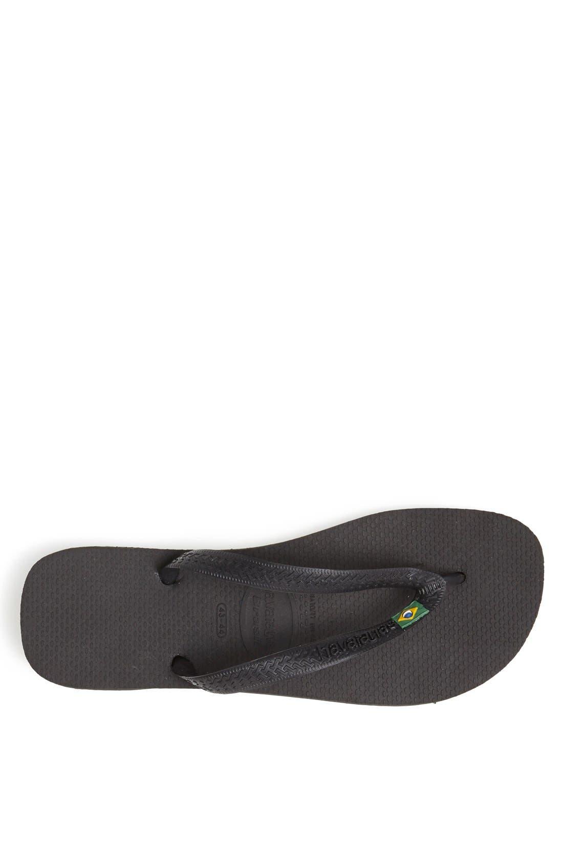 'Brazil' Flip Flop,                             Alternate thumbnail 6, color,                             BLACK