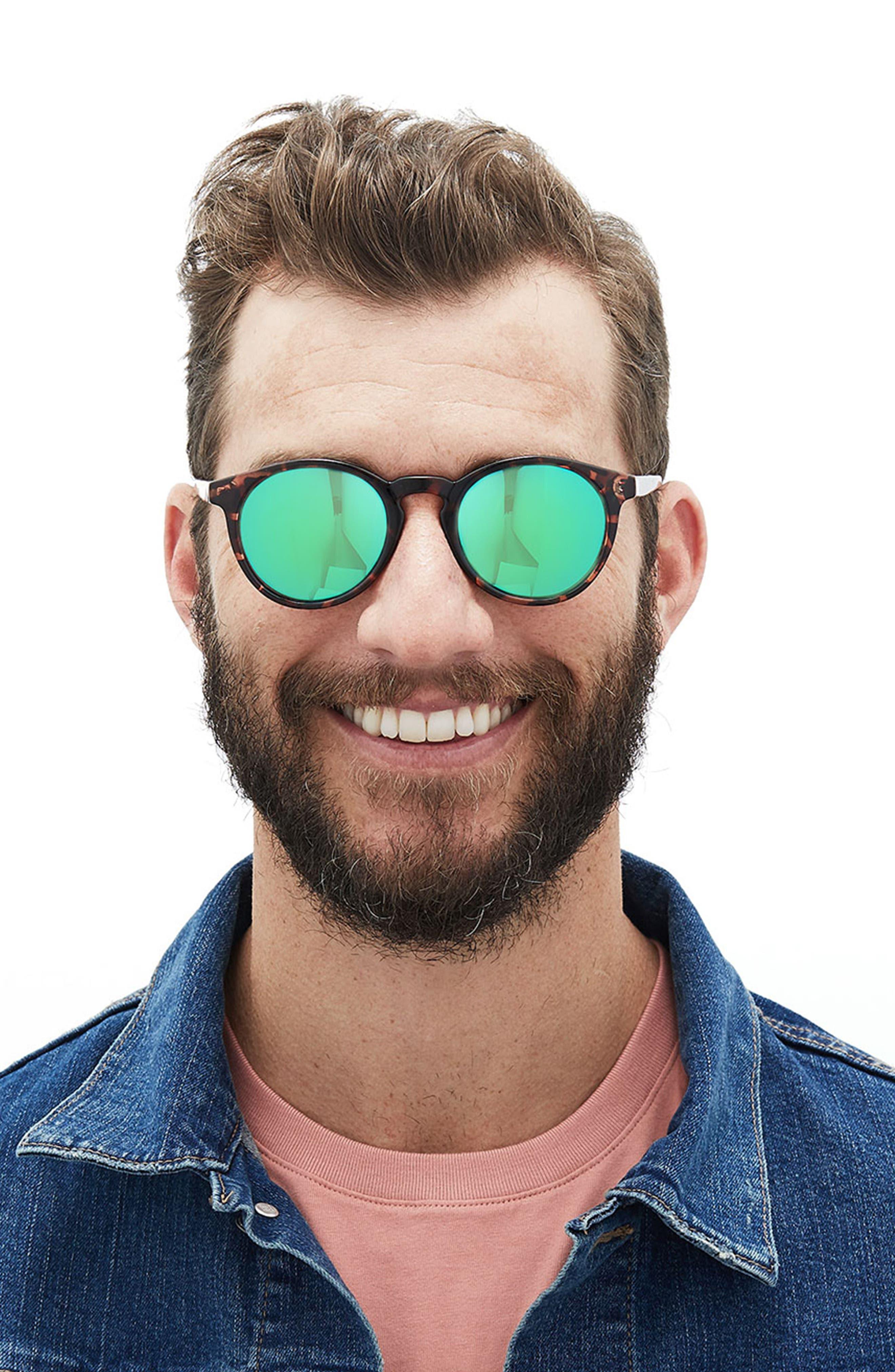 Dipsea 48mm Polarized Sunglasses,                             Alternate thumbnail 7, color,                             TORTOISE EMERALD