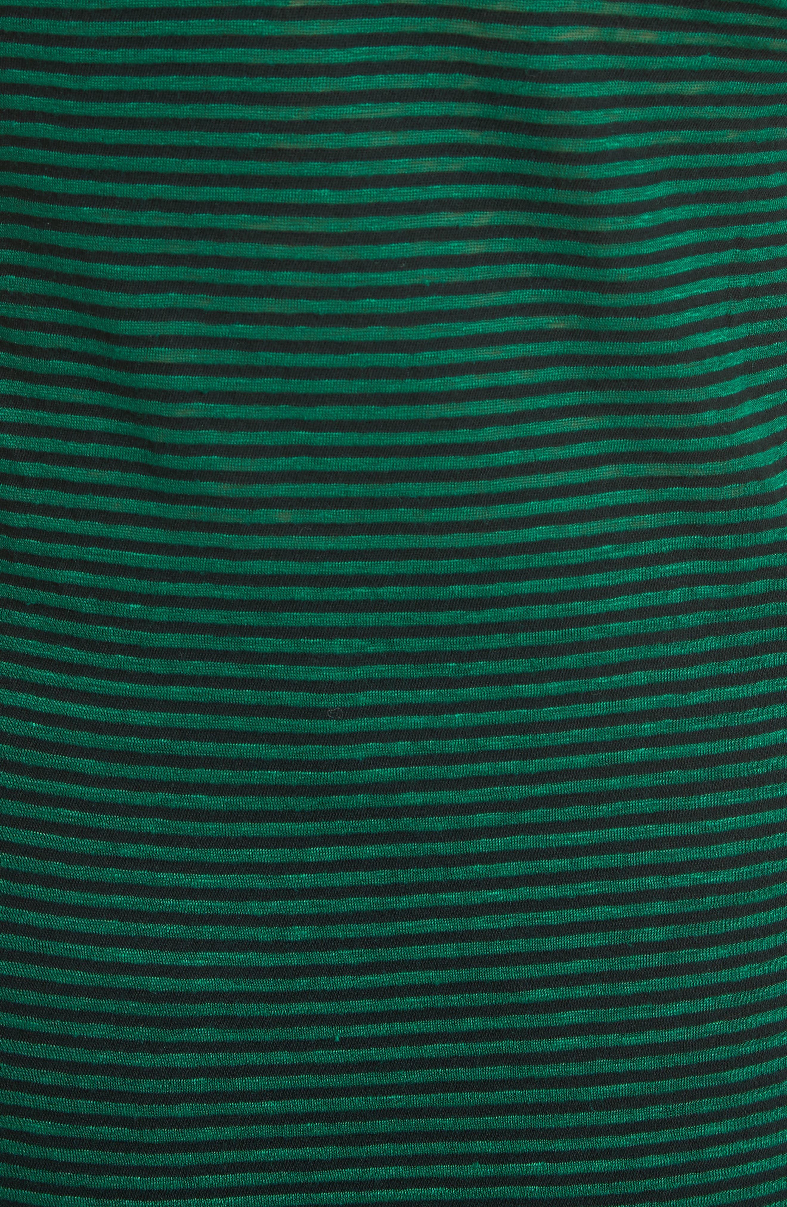 Isabel Marant Étoile Avien Stripe Cotton & Linen Tank,                             Alternate thumbnail 5, color,                             300