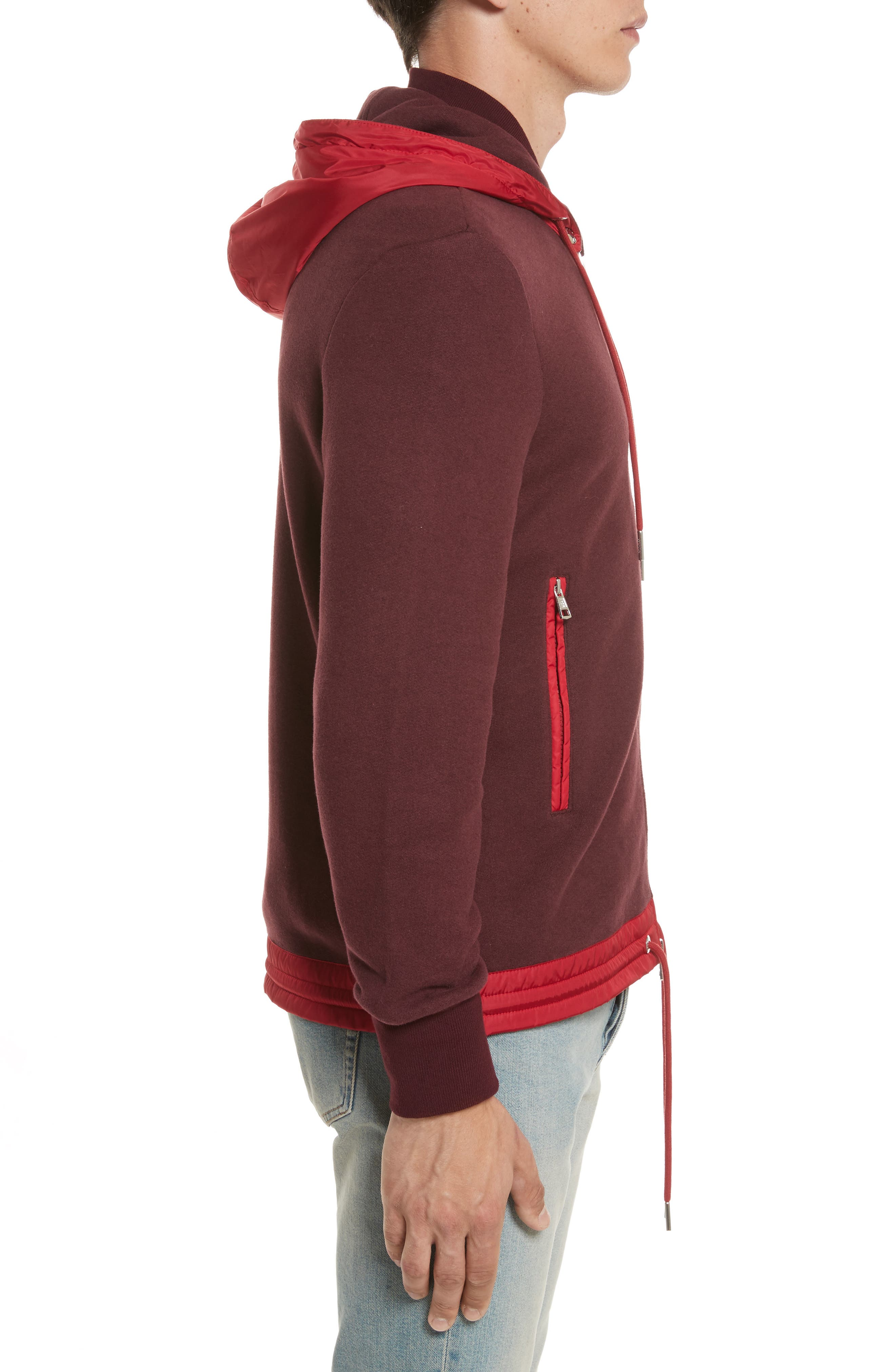 Maglia Knit Bomber with Removable Hood,                             Alternate thumbnail 3, color,