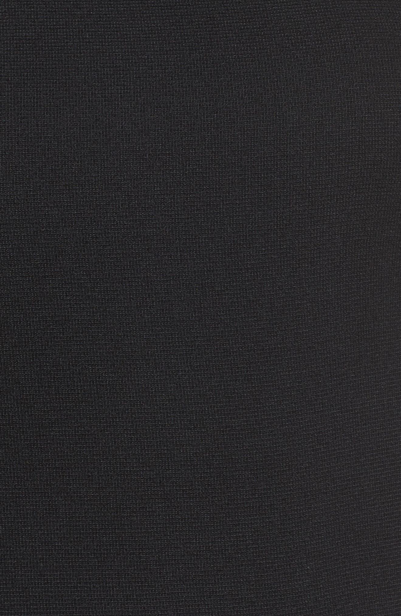 Ruffle Tiered Shift Dress,                             Alternate thumbnail 6, color,                             BLACK