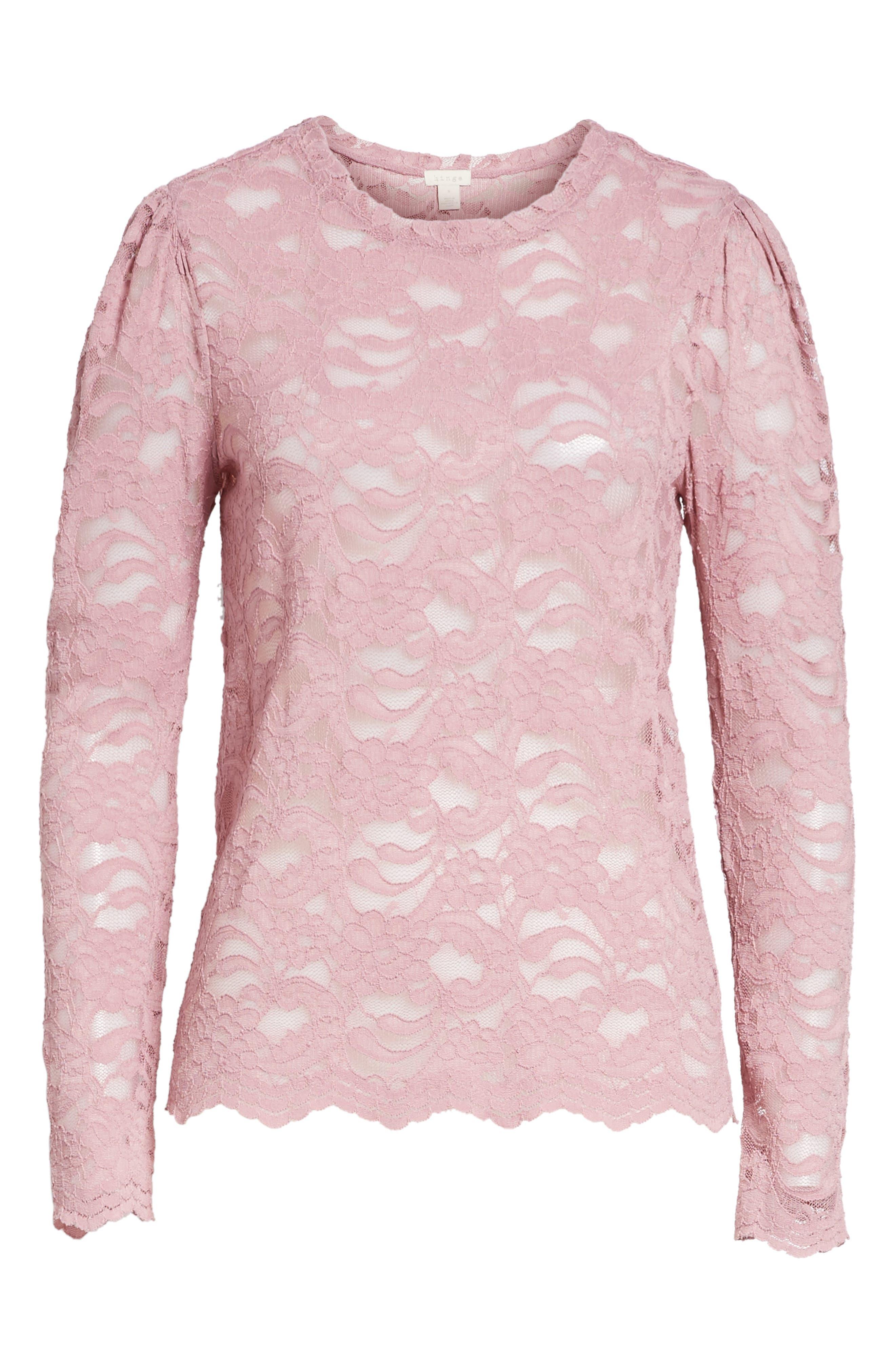 Lace Top,                             Alternate thumbnail 6, color,                             500
