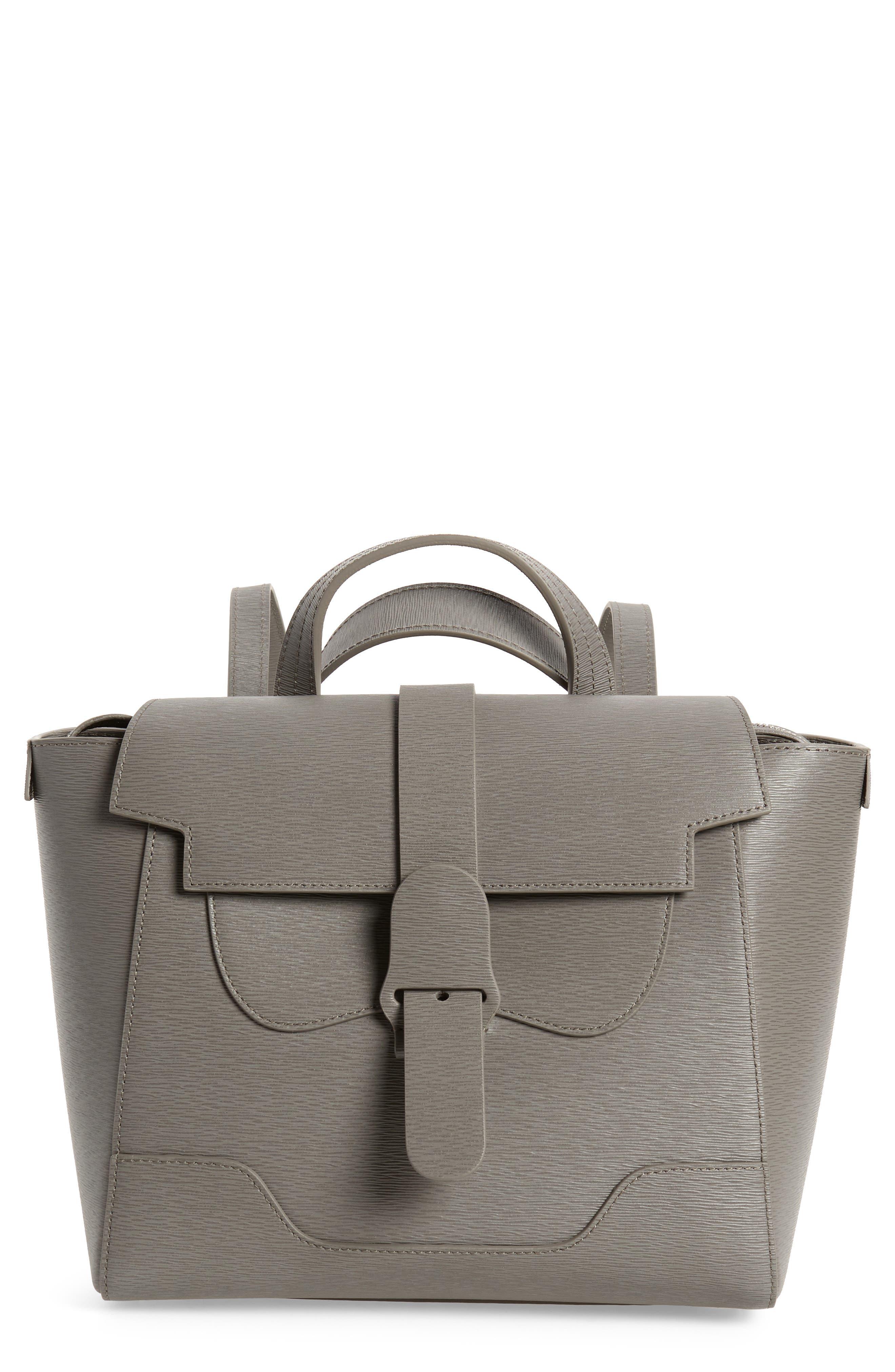 SENREVE Midi Maestra Leather Satchel - Grey in Mimosa Storm