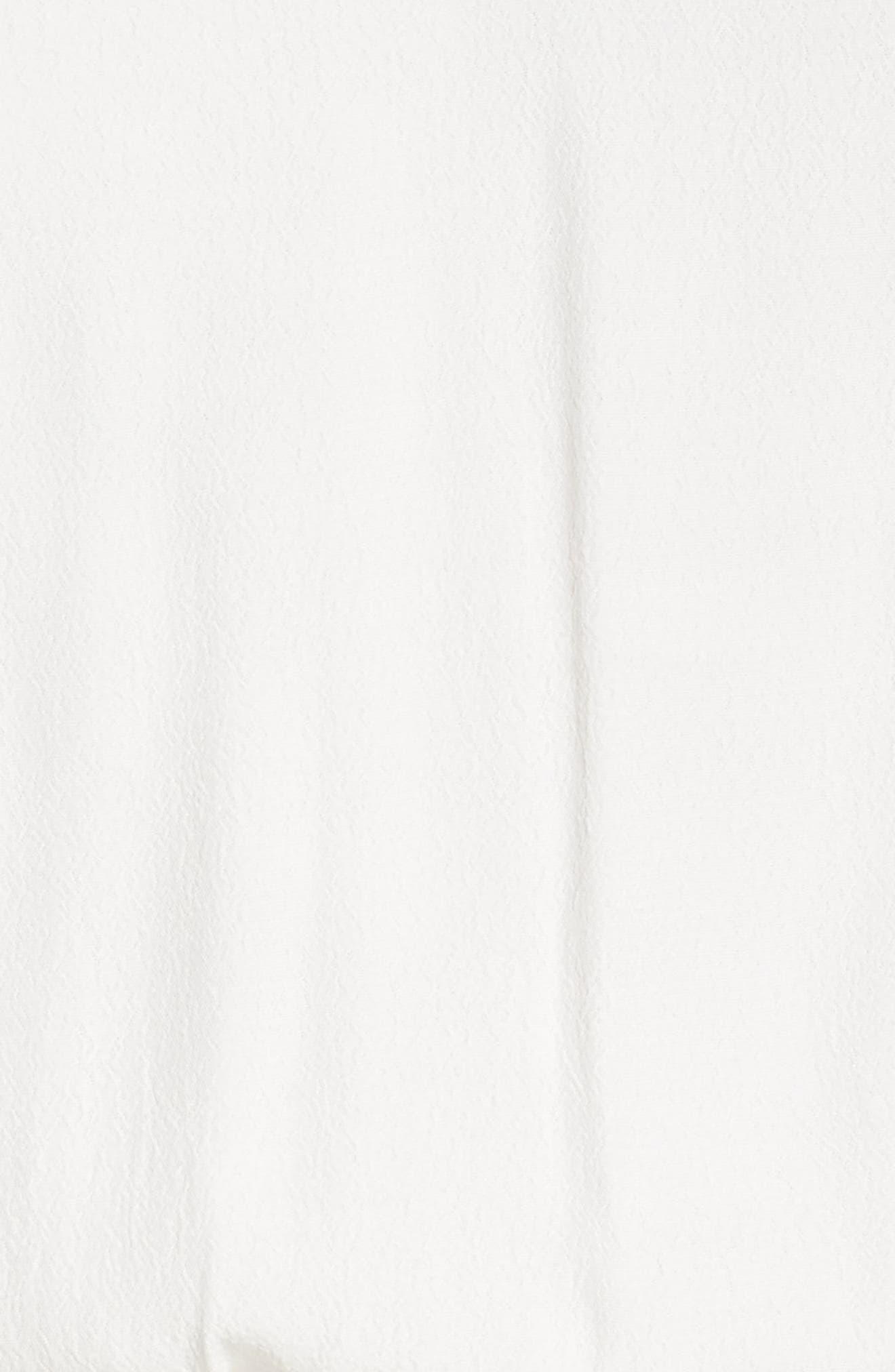 Ruffle Midi Dress,                             Alternate thumbnail 6, color,                             OFF WHITE