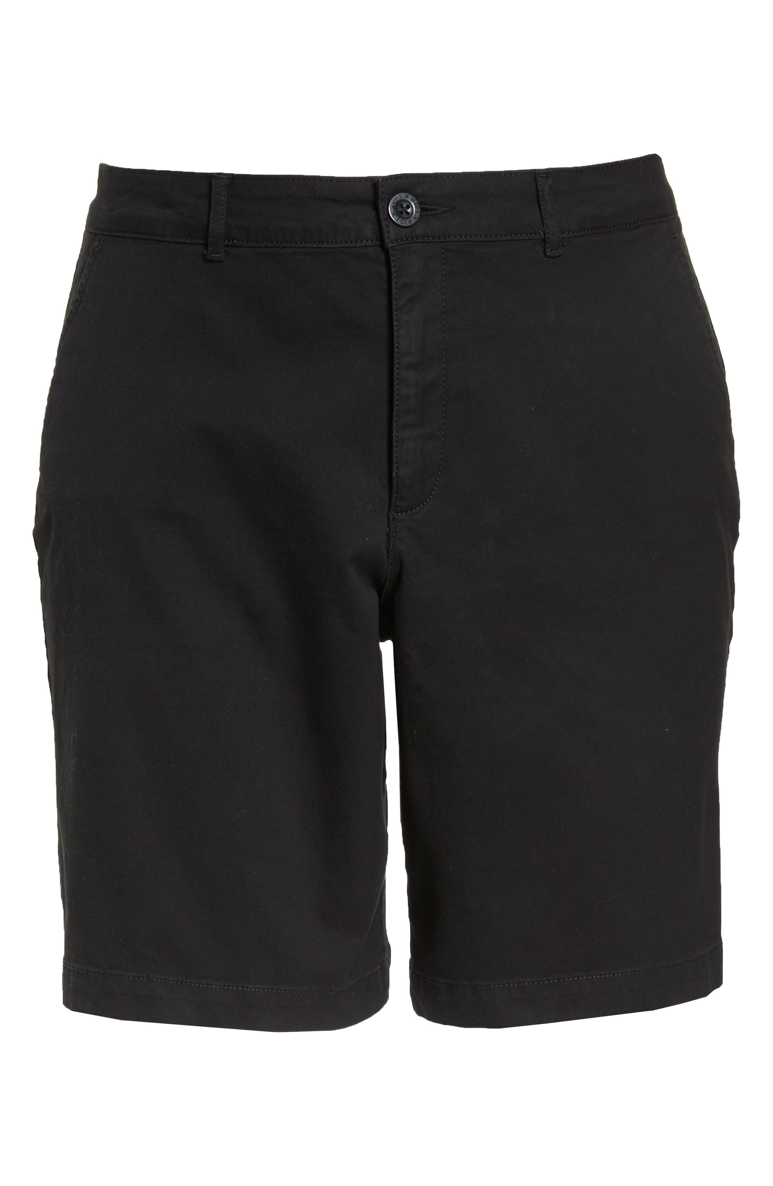 Stretch Twill Bermuda Shorts,                             Alternate thumbnail 6, color,                             001