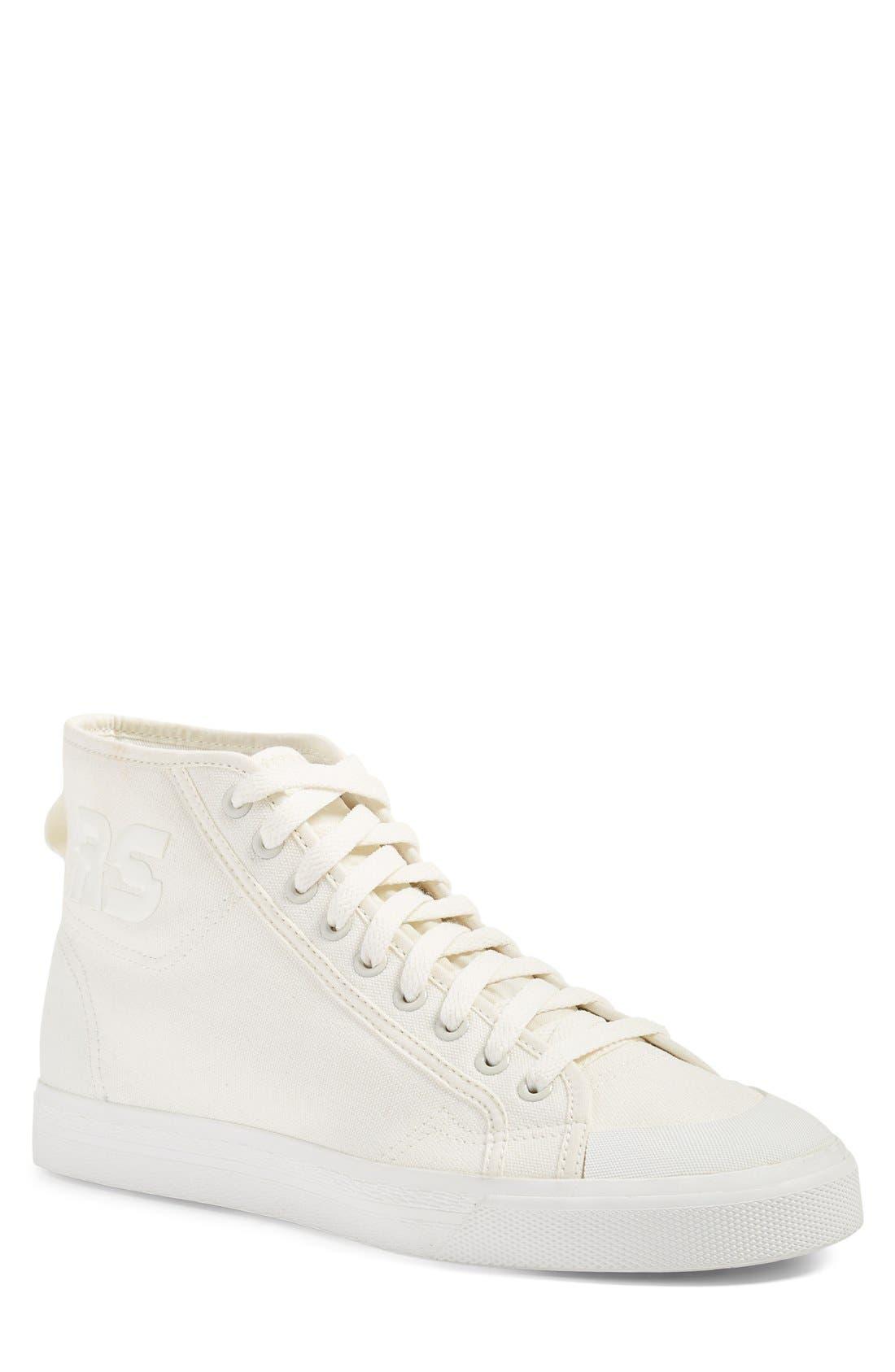 RAF SIMONS adidas by Raf Simons Spirit High Top Sneaker, Main, color, 100