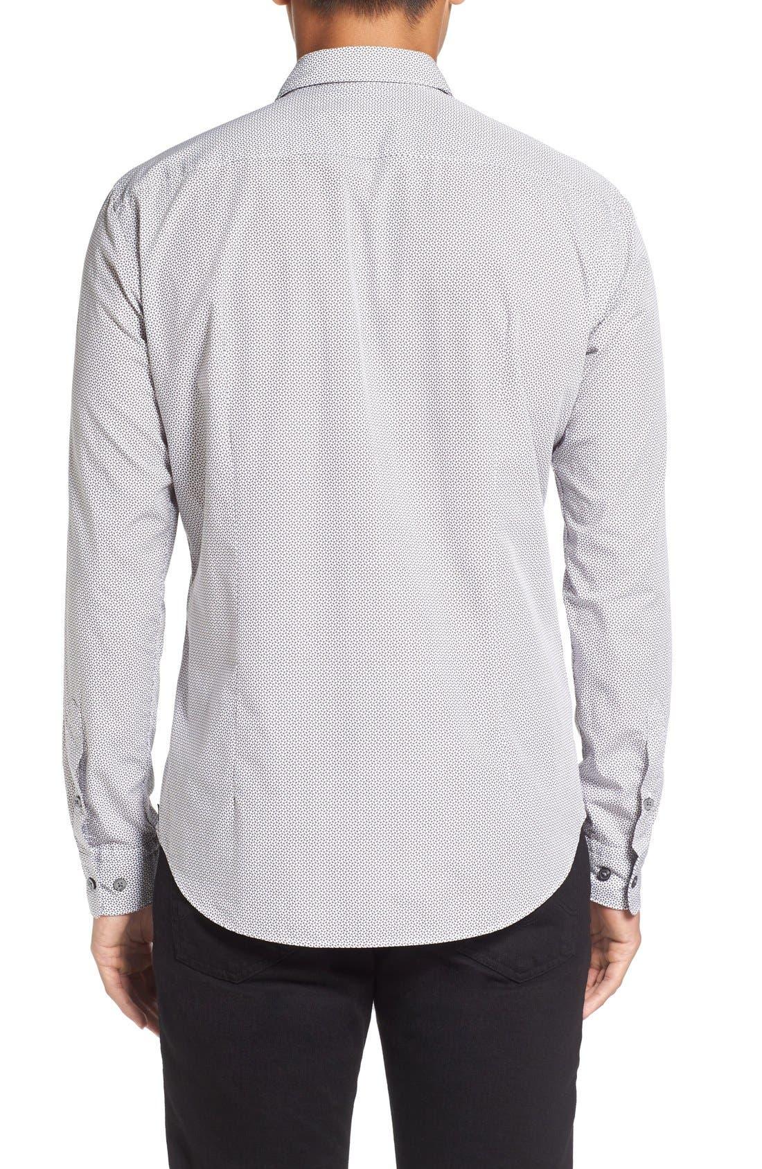 'Robbie' Sharp Fit Graphic Print Sport Shirt,                             Alternate thumbnail 2, color,                             069