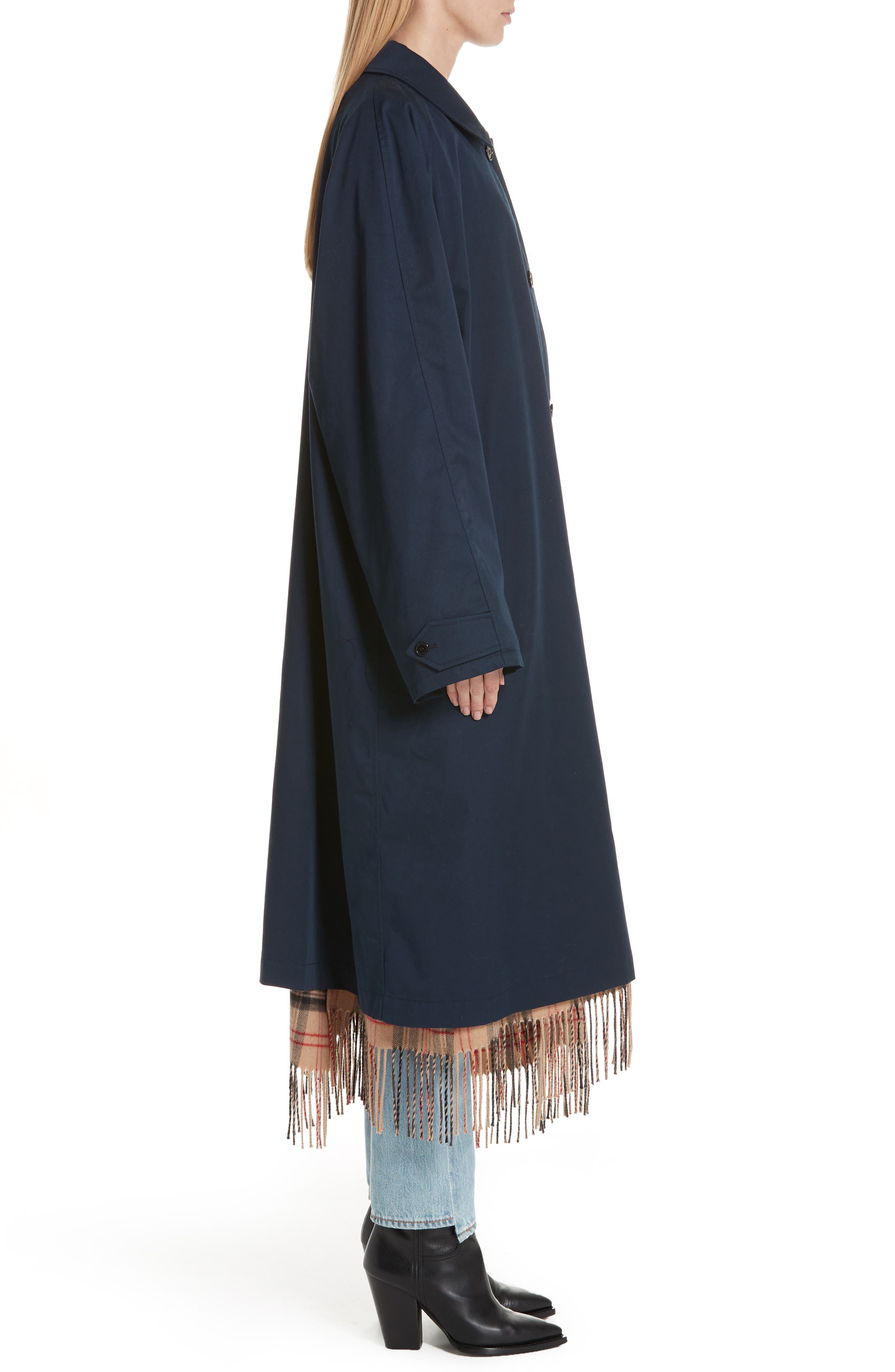 Scarf Trench Coat,                             Alternate thumbnail 3, color,                             410