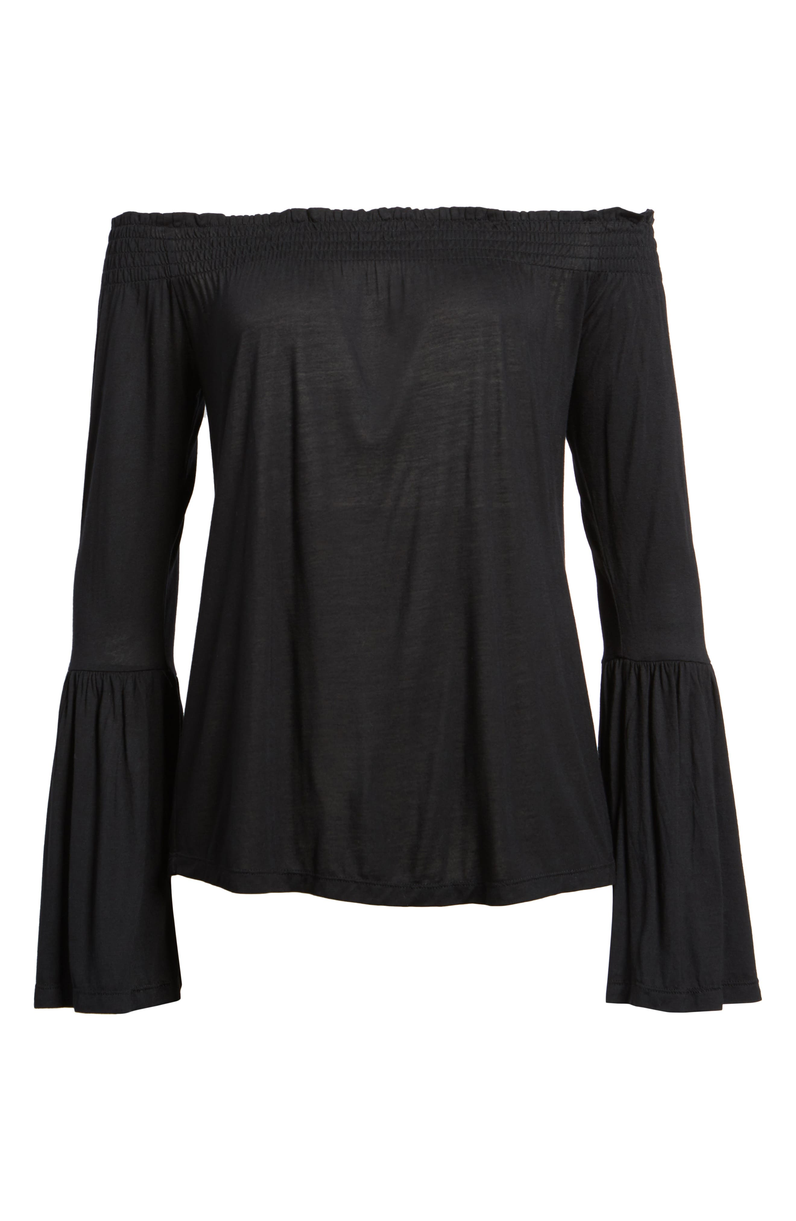 Luck Off the Shoulder Top,                             Alternate thumbnail 6, color,