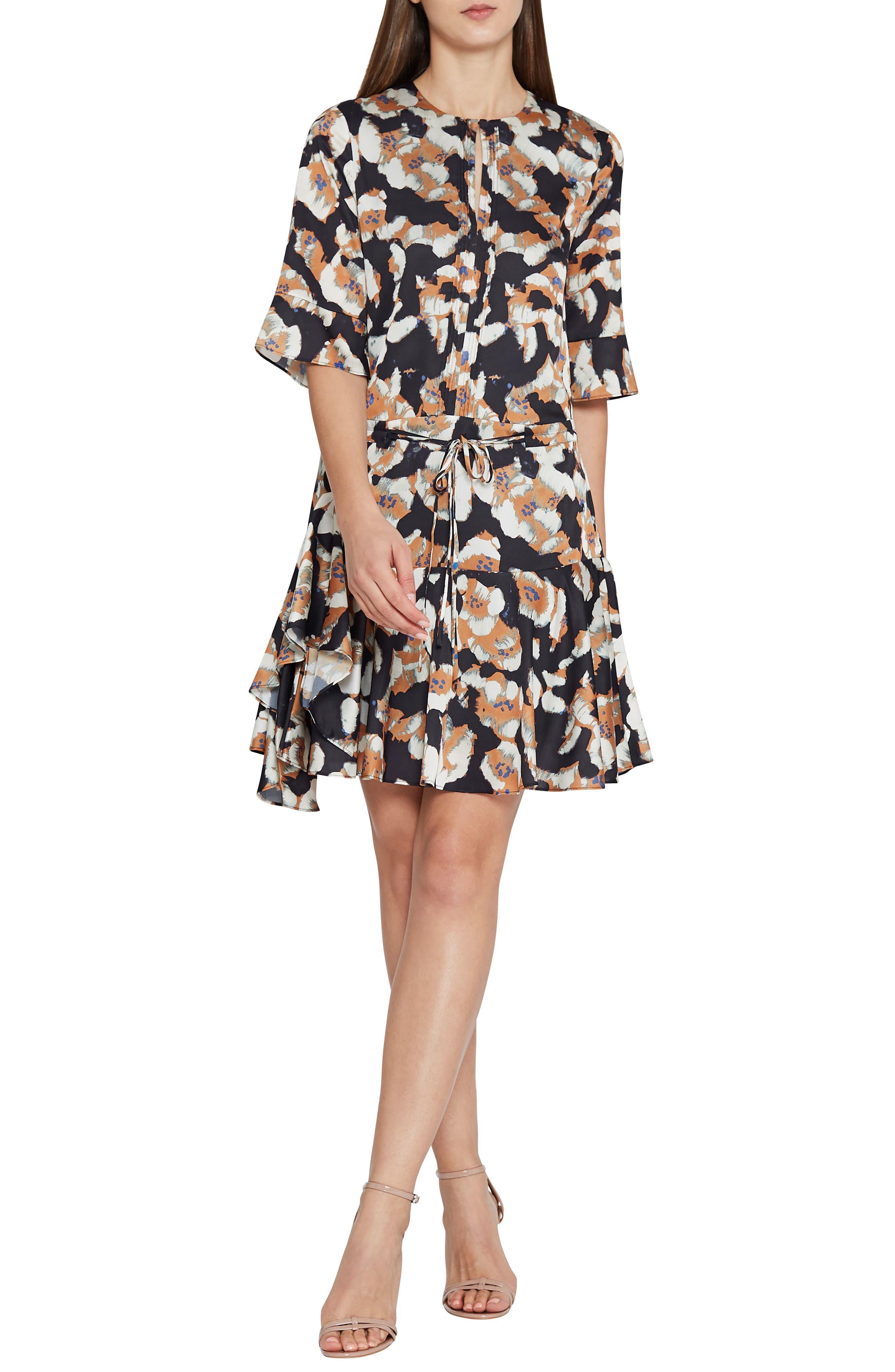 Kianni Floral Fit & Flare Dress,                             Main thumbnail 1, color,                             MULTI