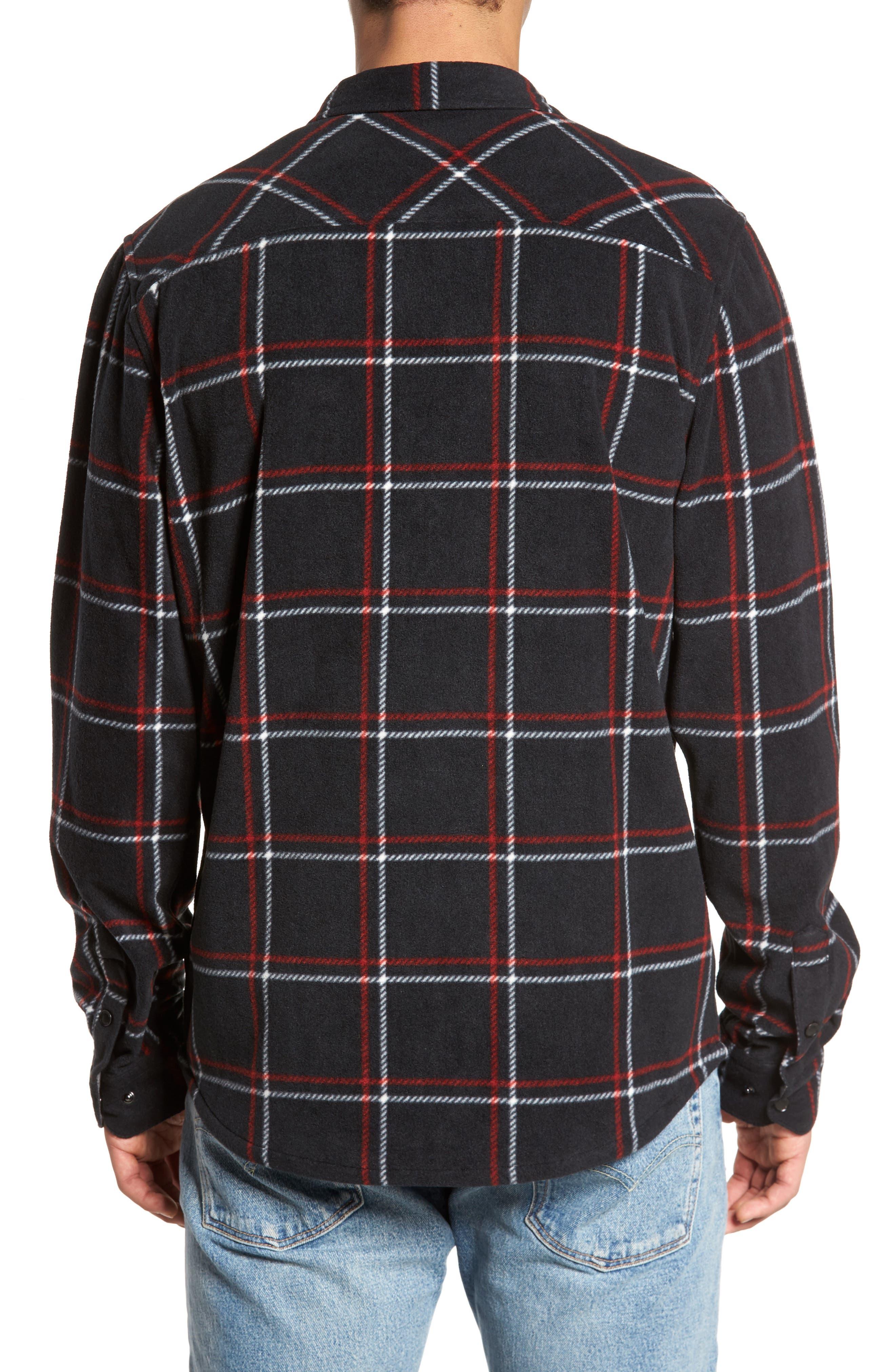 Glacier Series Fleece Shirt,                             Alternate thumbnail 2, color,                             001