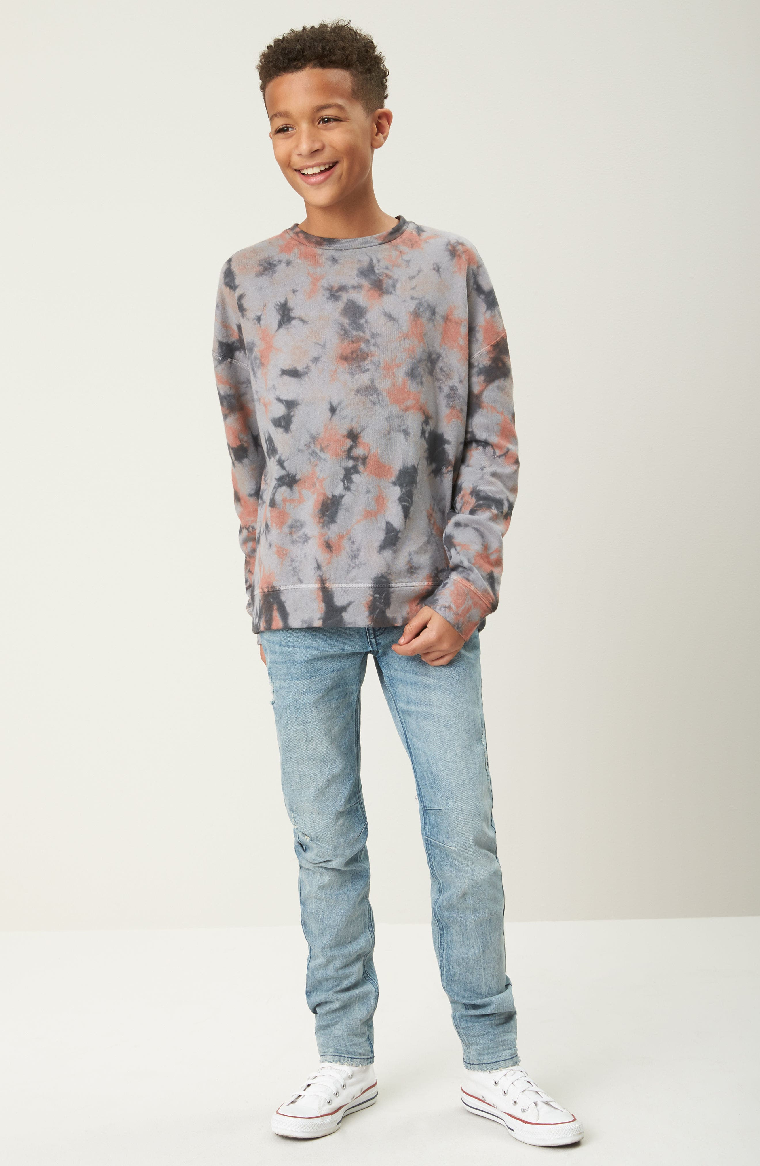 Classic Skinny Jeans,                             Alternate thumbnail 7, color,                             FROST WASH