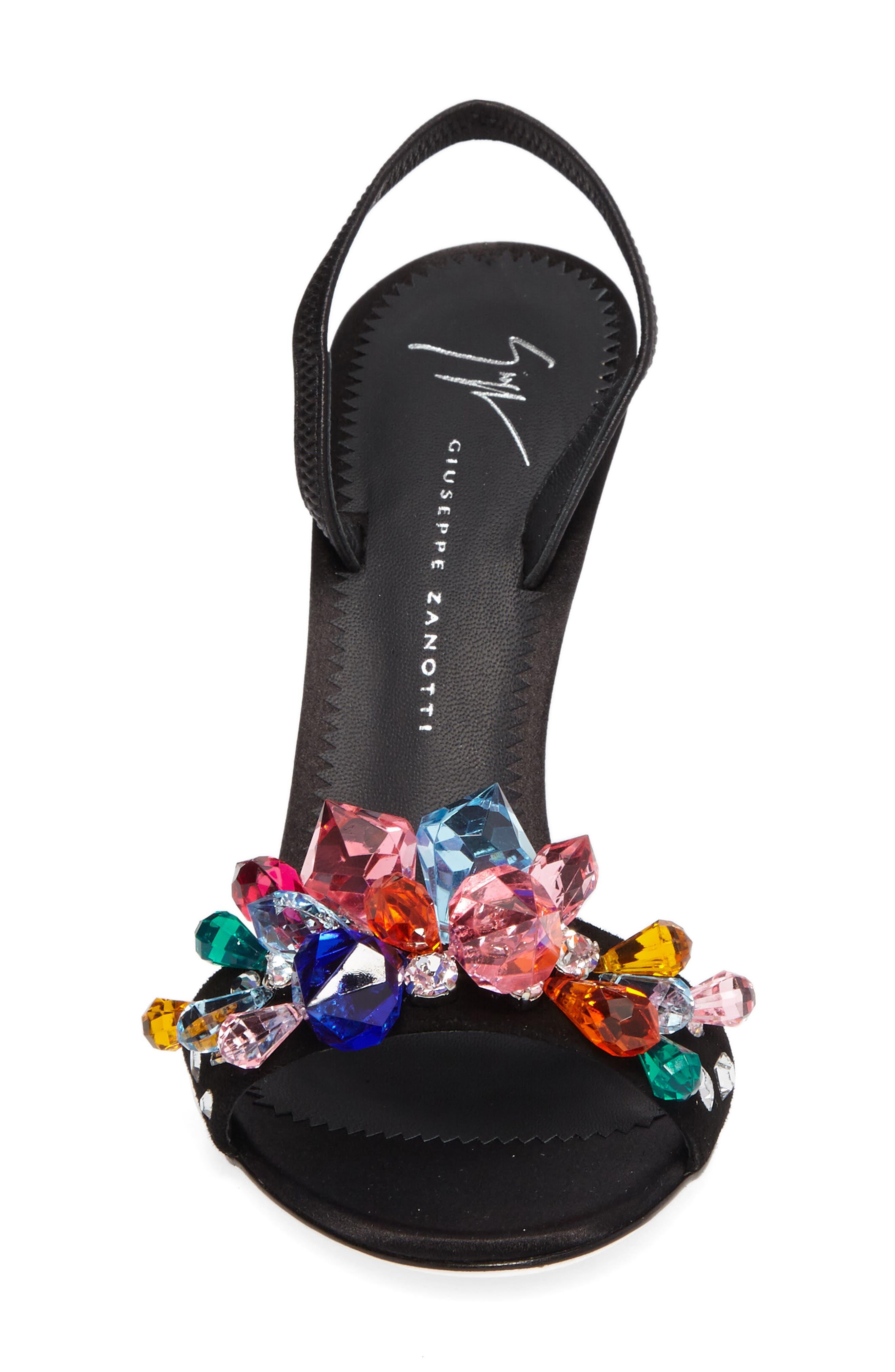 Mistico Crystal Embellished Slingback Sandal,                             Alternate thumbnail 4, color,