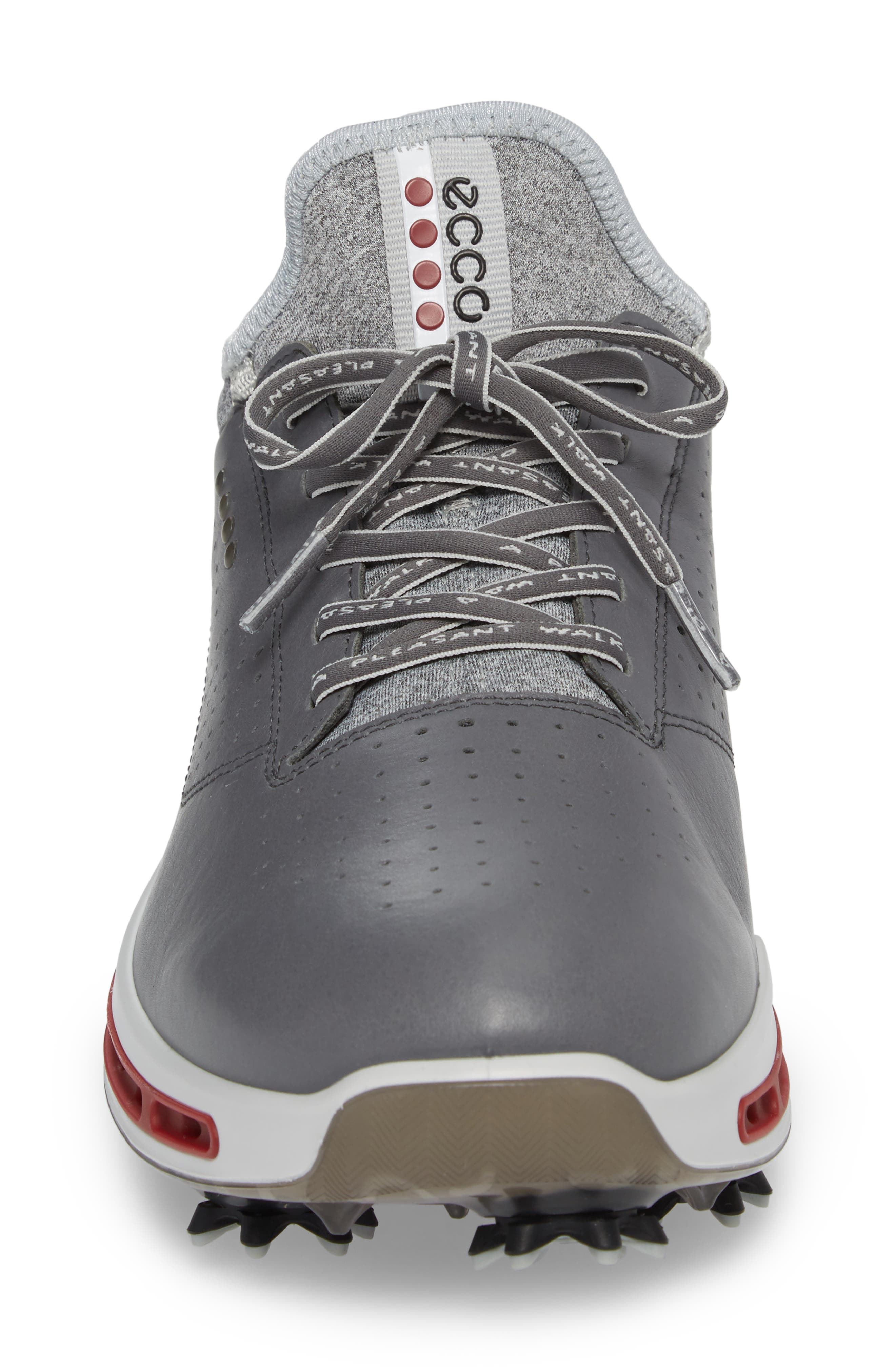 Cool 18 Gore-Tex Golf Shoe,                             Alternate thumbnail 4, color,                             DARK SHADOW LEATHER