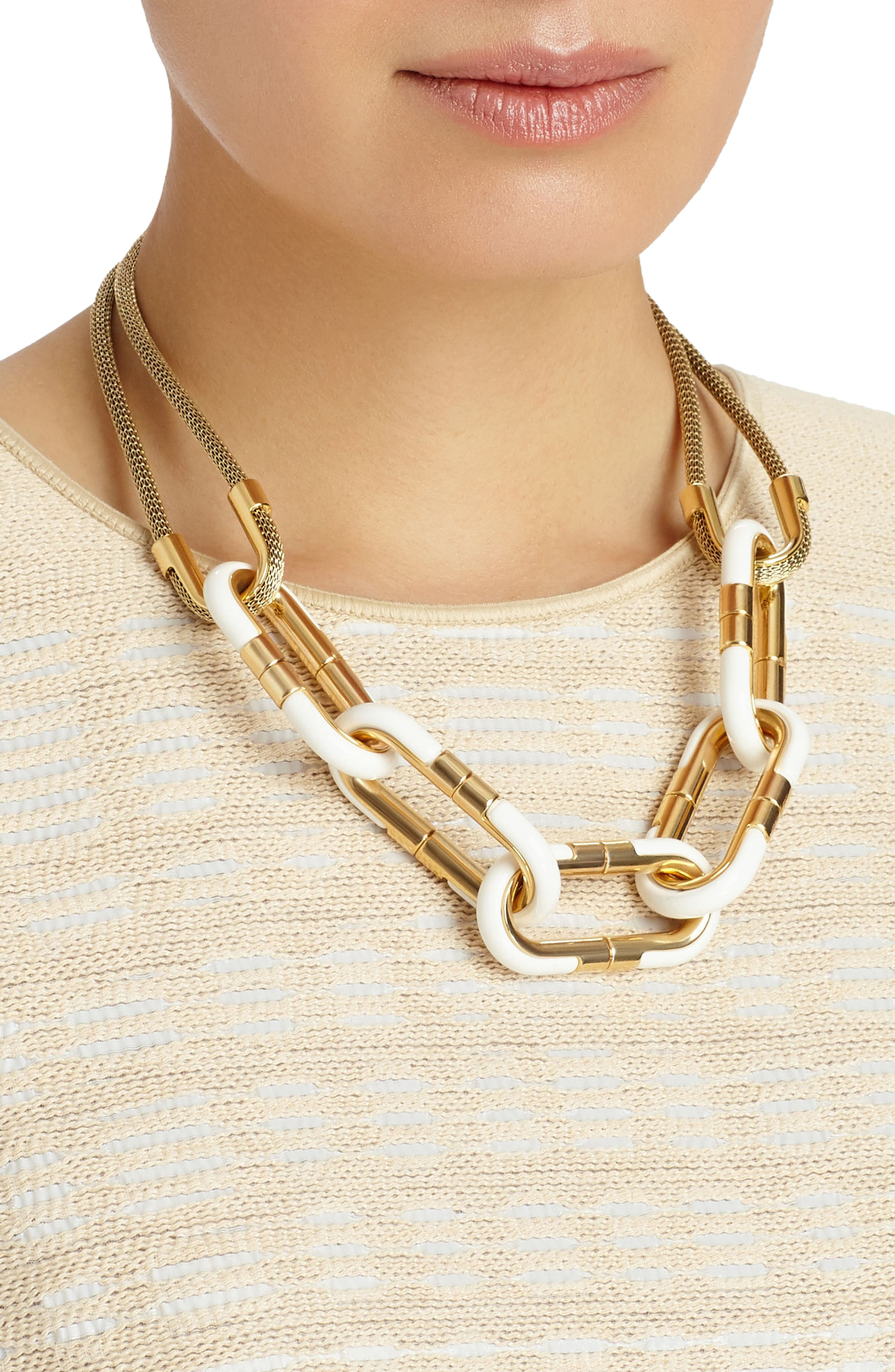 Libre Link Statement Necklace,                             Main thumbnail 1, color,                             710