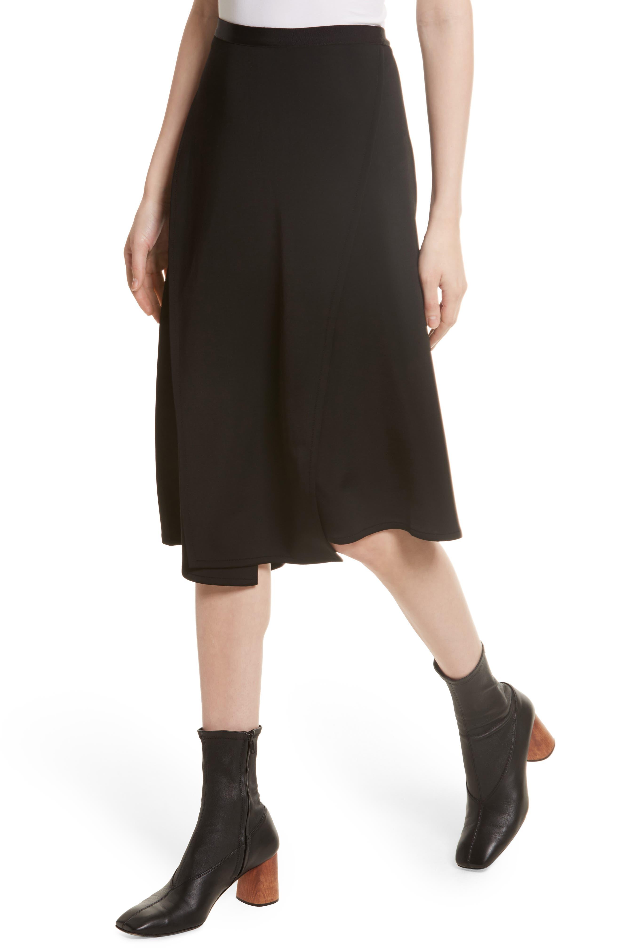 Bondage Jersey Asymmetrical Skirt,                             Alternate thumbnail 4, color,                             001