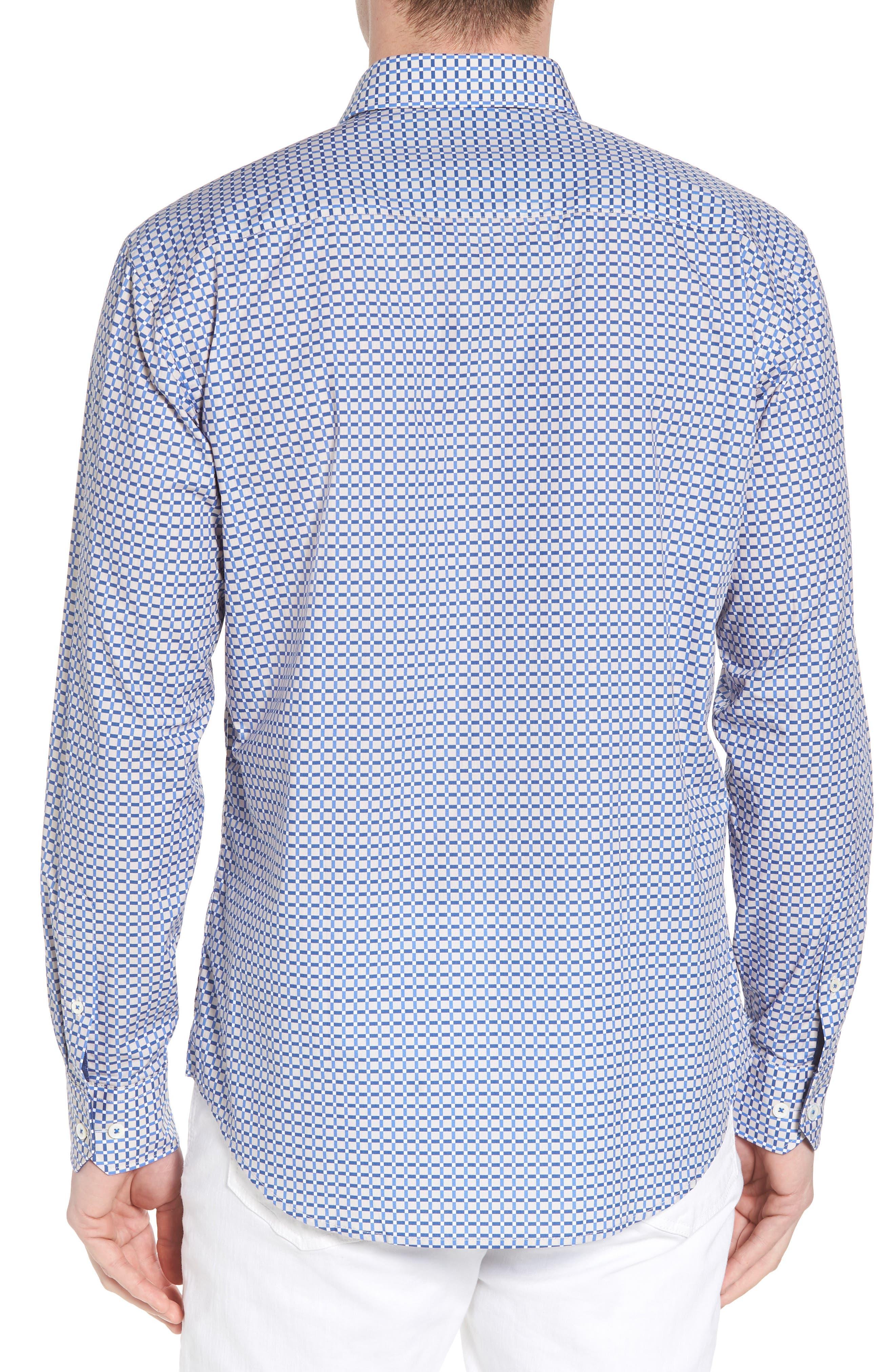 Shaped Fit Print Sport Shirt,                             Alternate thumbnail 2, color,                             104