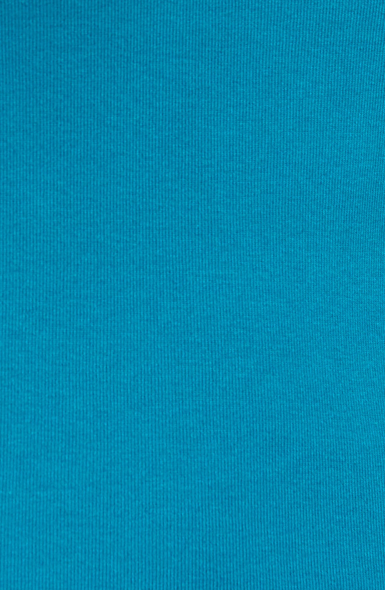 Ballet Neck Cotton & Modal Knit Elbow Sleeve Tee,                             Alternate thumbnail 249, color,