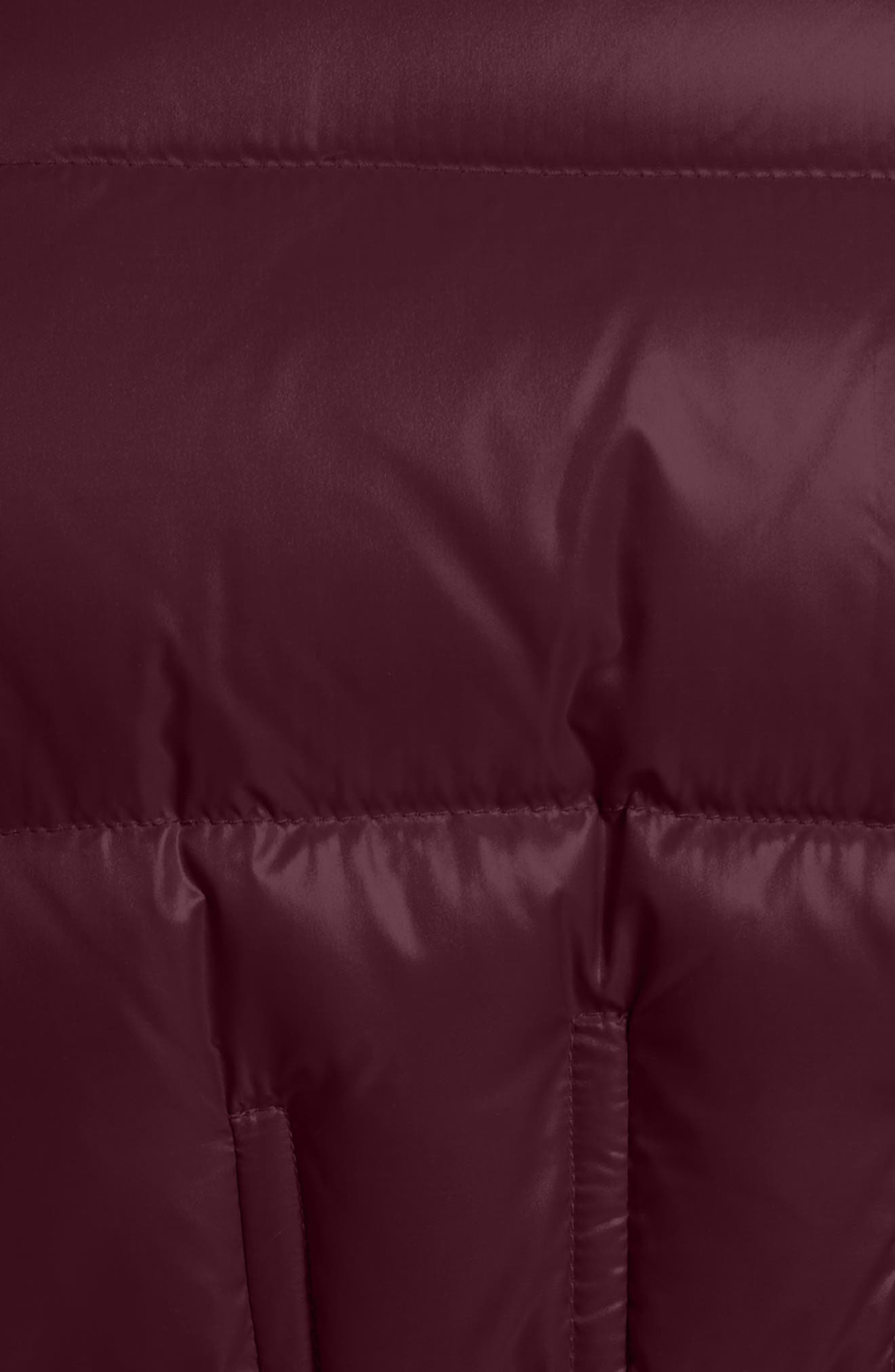 Danae Down Puffer Jacket,                             Alternate thumbnail 6, color,                             BURGUNDY