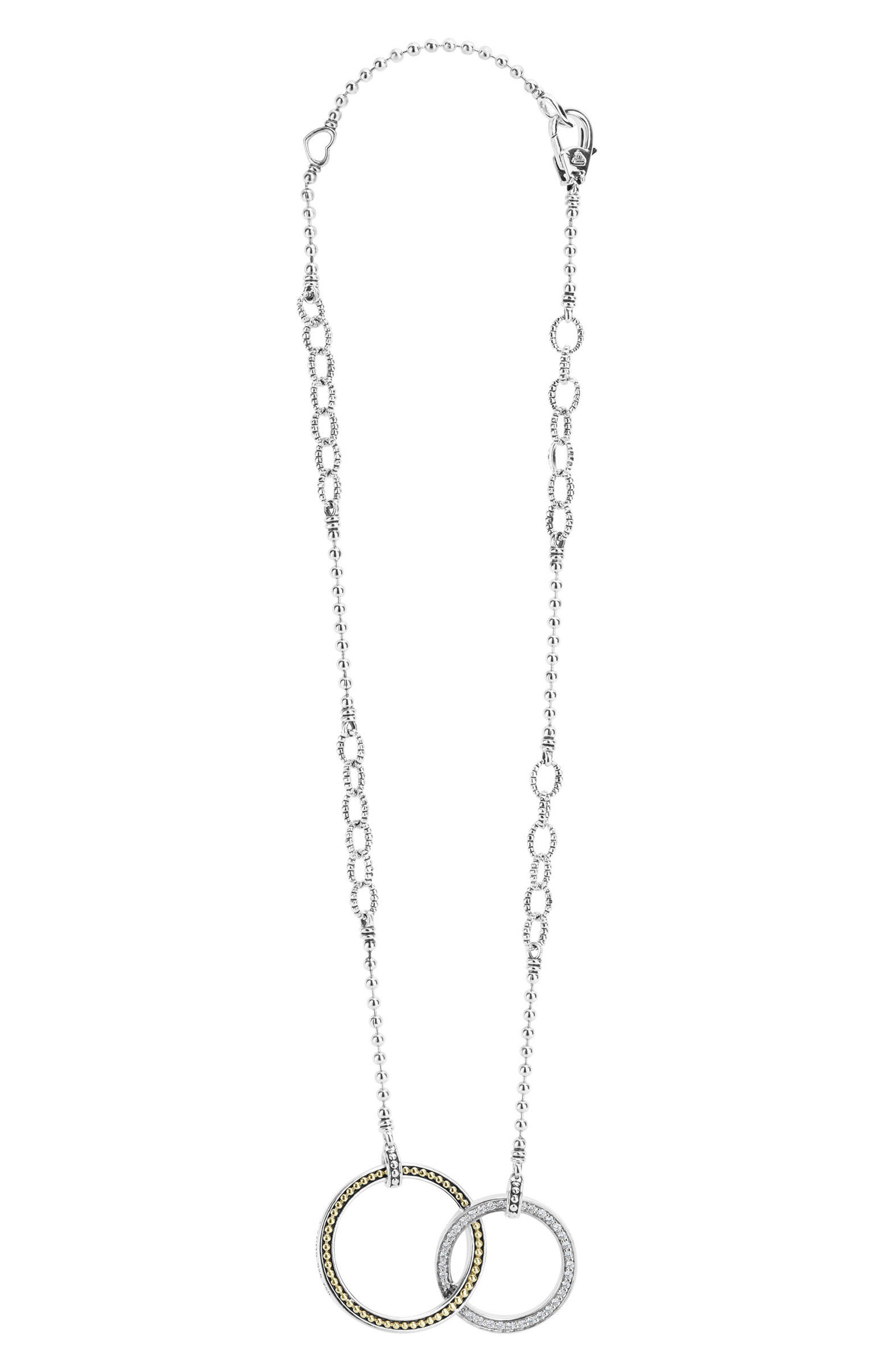 Enso Diamond Pendant Necklace,                             Alternate thumbnail 2, color,                             SILVER