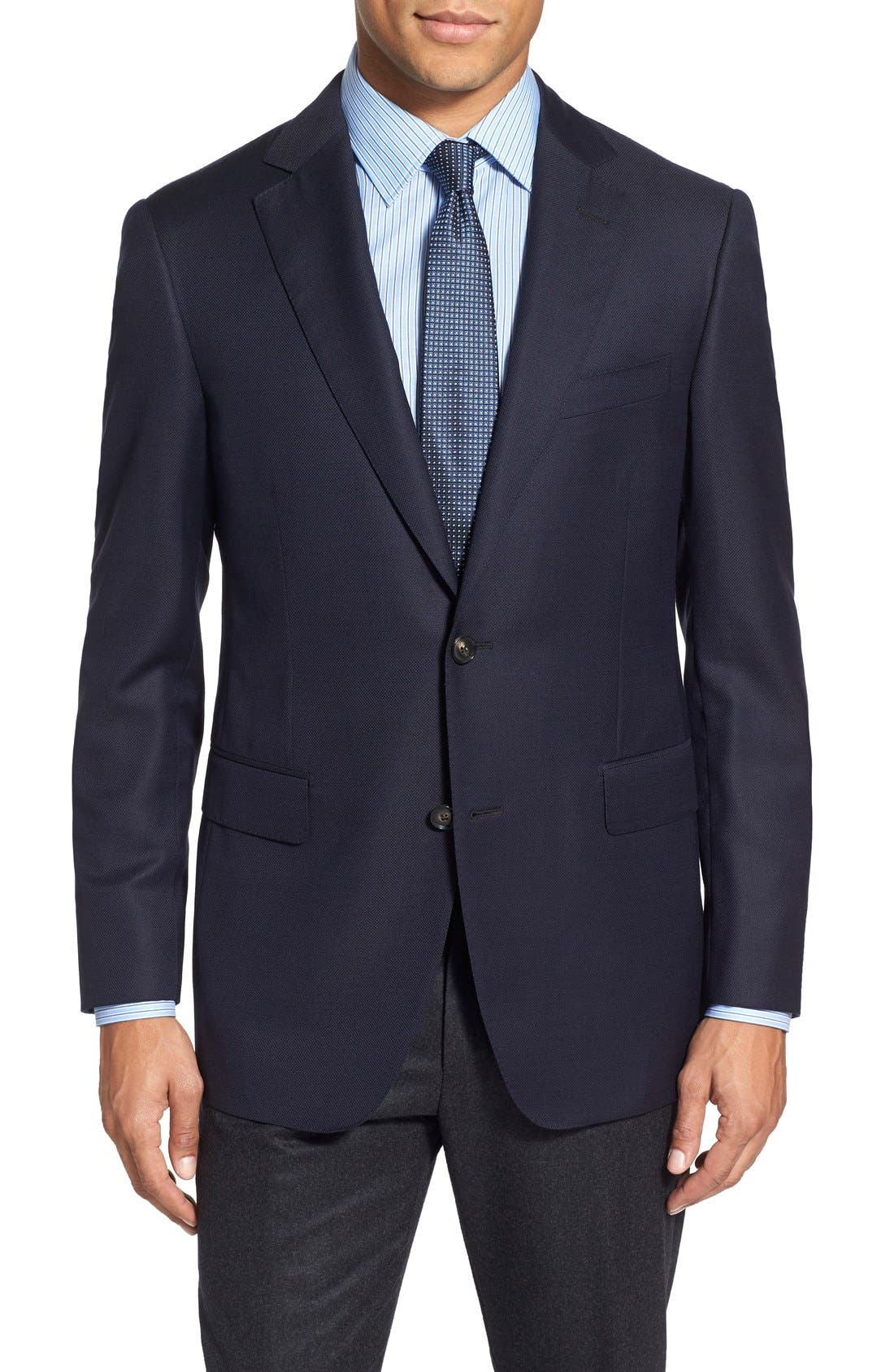 Classic Fit Wool Blazer,                         Main,                         color, 410