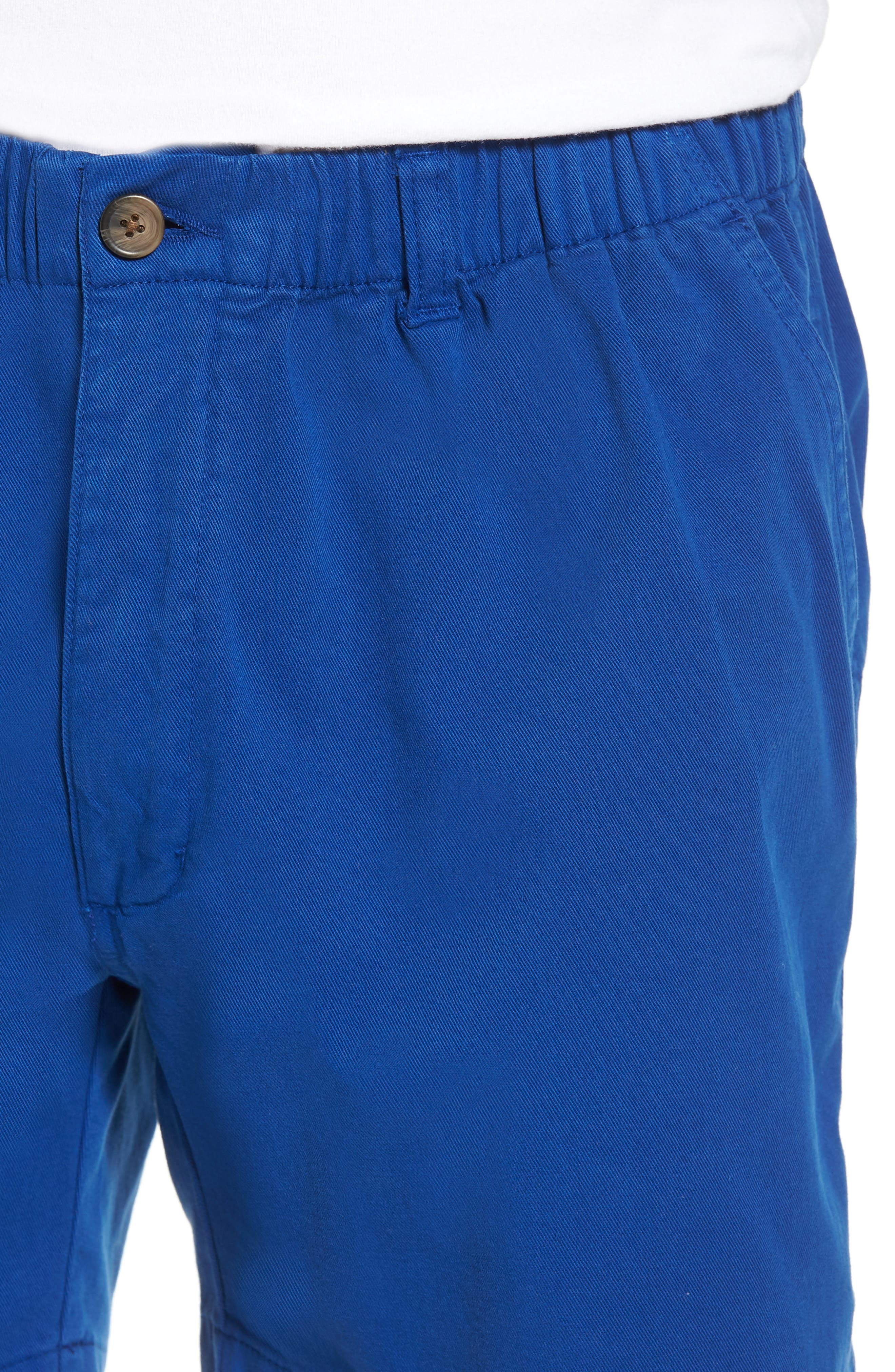 Snappers Elastic Waist 5.5 Inch Stretch Shorts,                             Alternate thumbnail 4, color,                             PREP BLUE