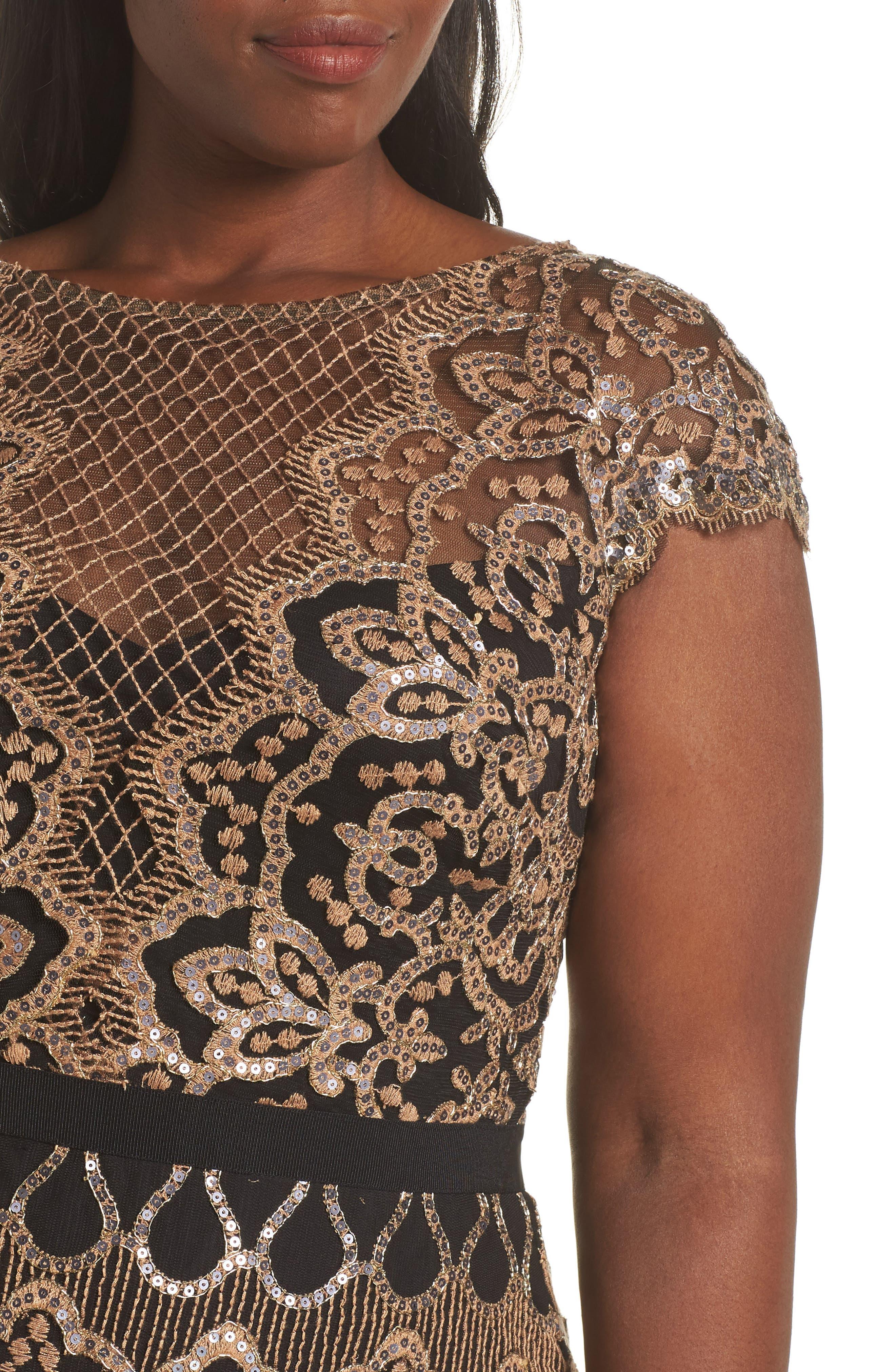 Sequin Embellished Dress,                             Alternate thumbnail 11, color,                             COPPER SHADOW/ BLACK