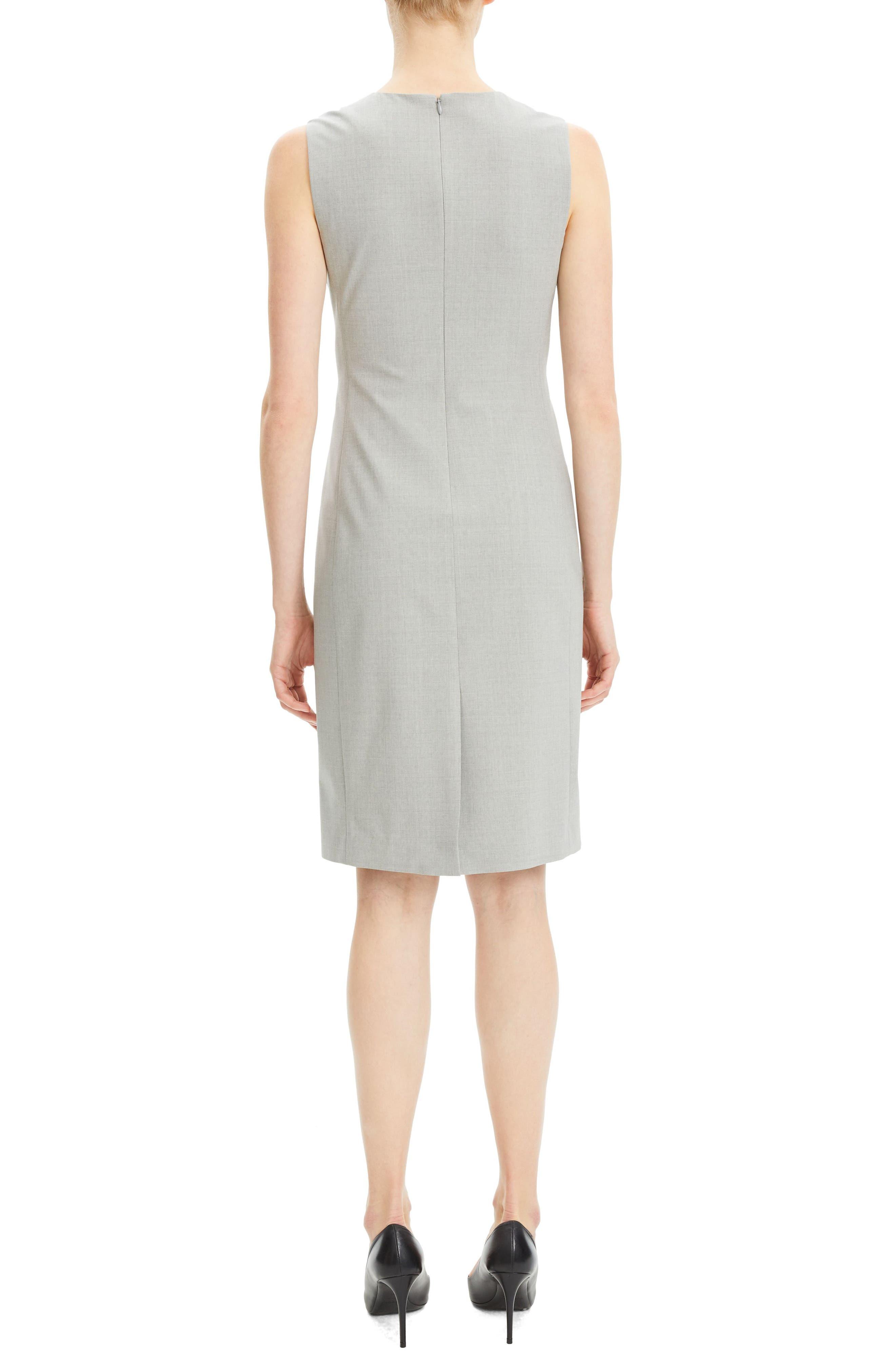 THEORY,                             Eano Good Wool Sheath Dress,                             Alternate thumbnail 2, color,                             050
