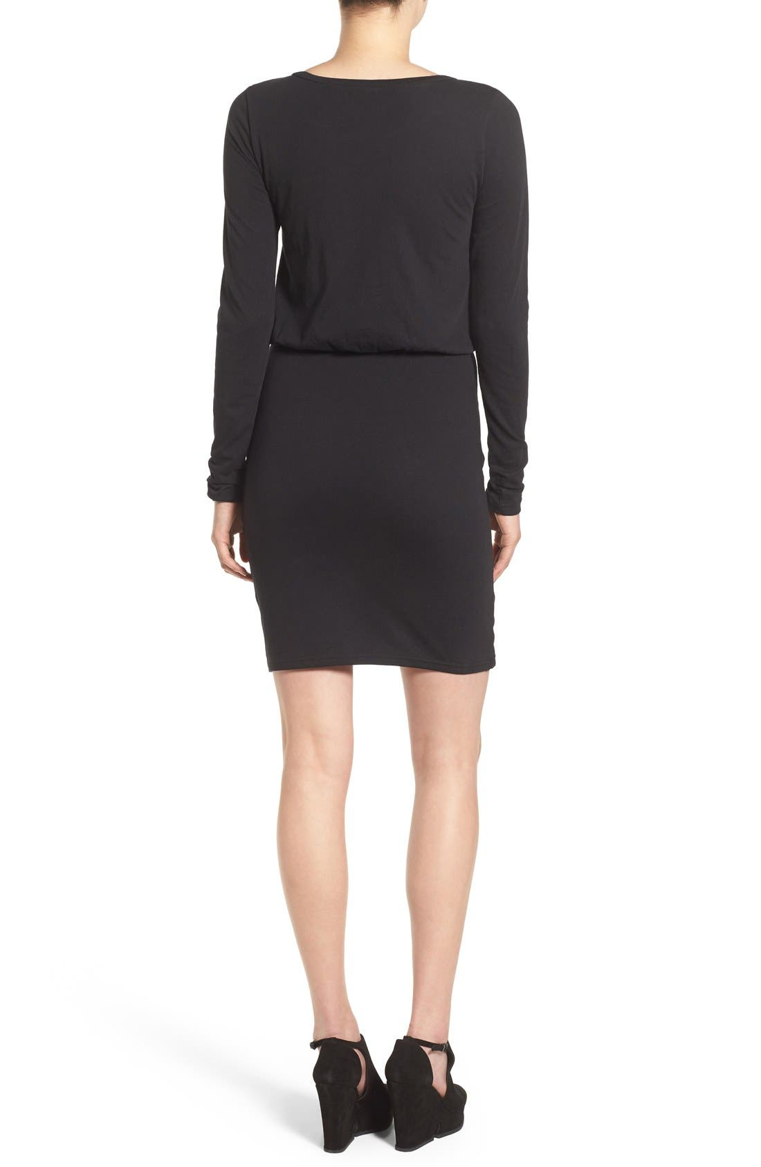 Blouson Body-Con Dress,                             Alternate thumbnail 5, color,                             001